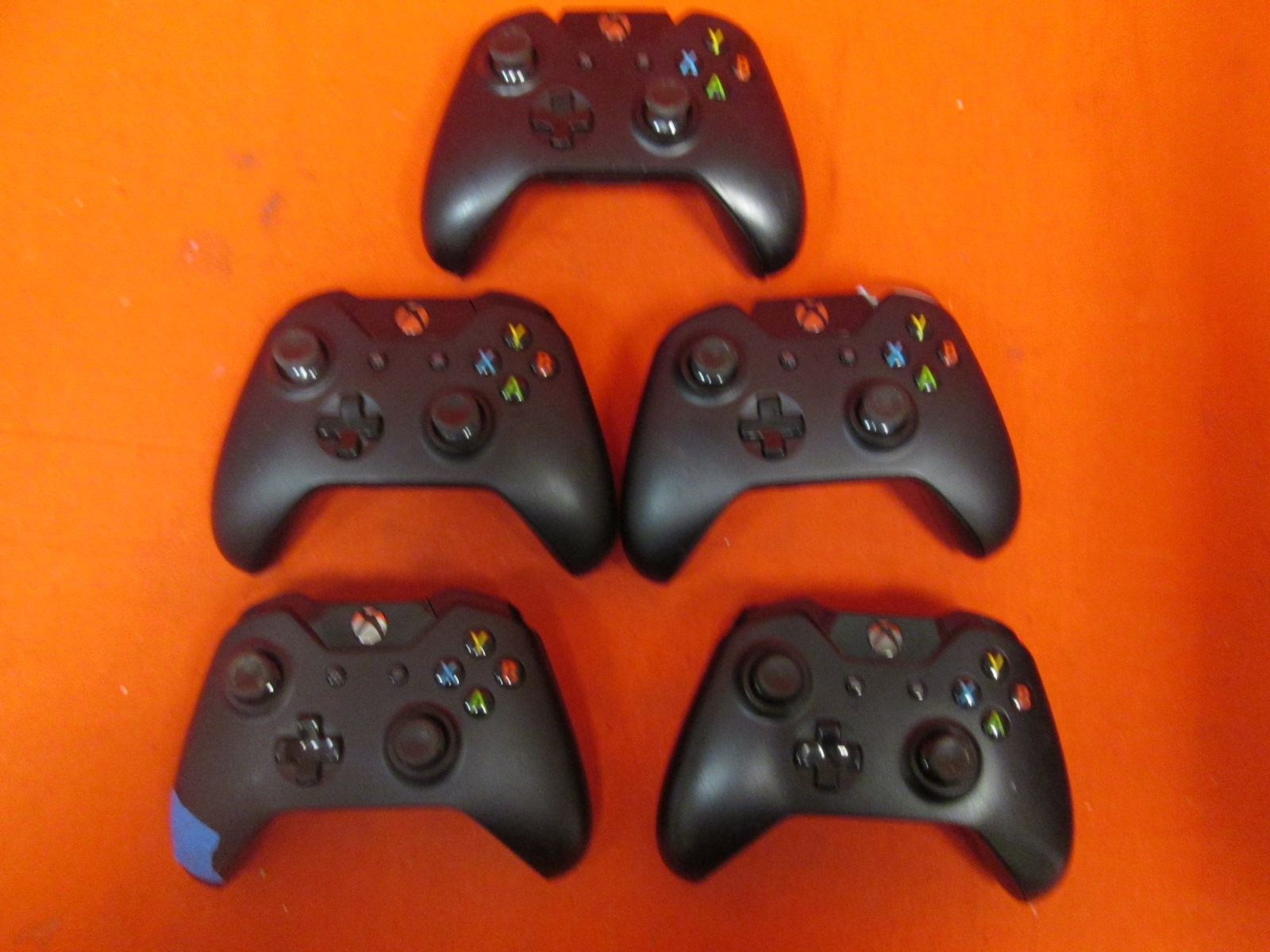 Broken Lot Of 5 Xbox One Wireless Controllers Black