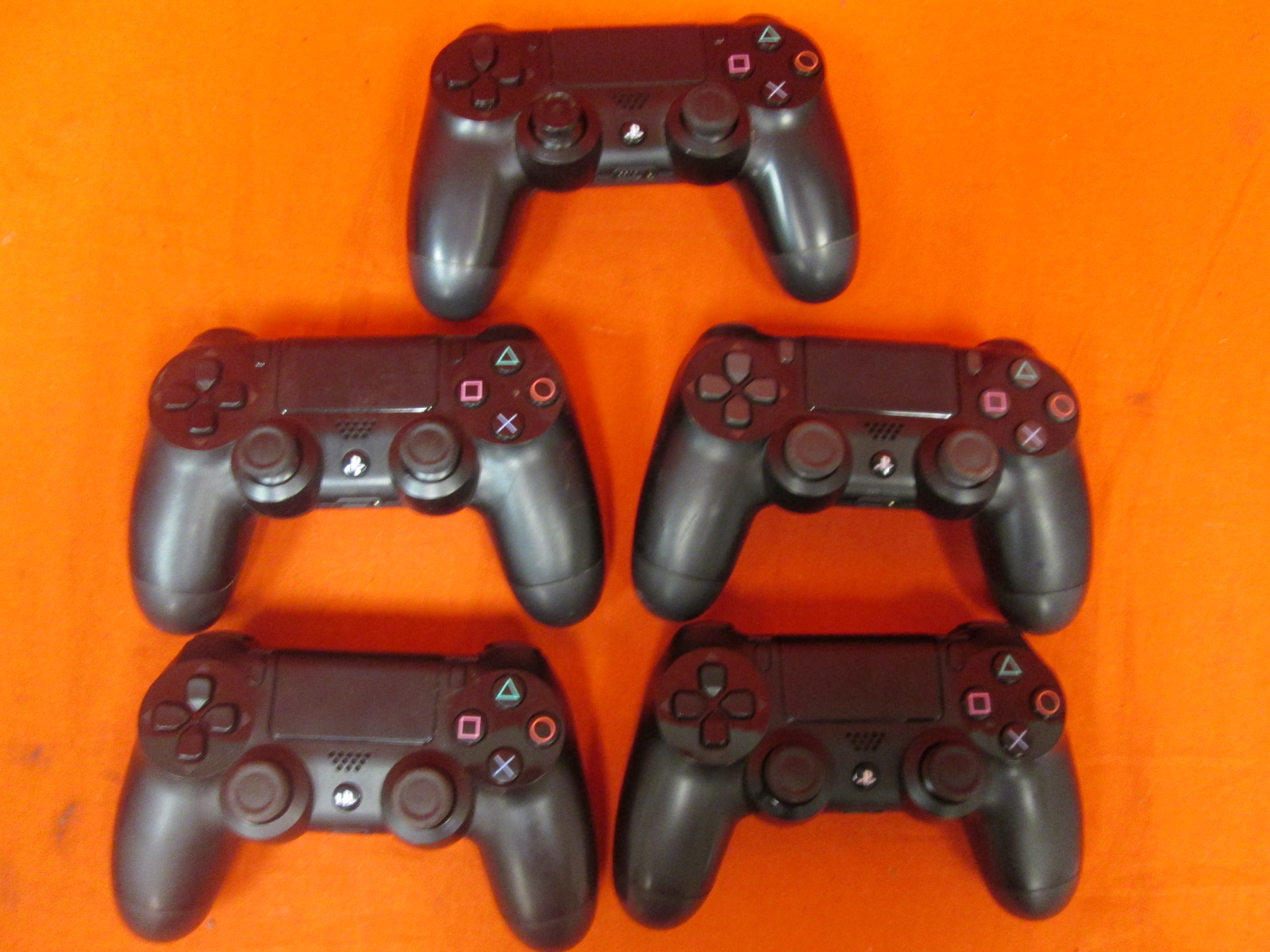 Broken Lot Of 5 Sony Playstation 4 Dualshock 4 Wireless Controllers