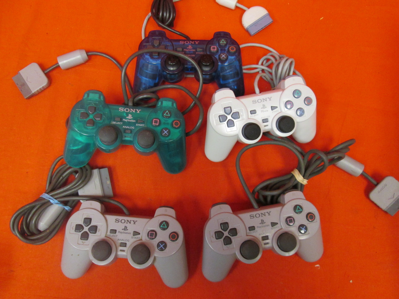 Broken Lot Of 5 Sony PlayStation Dualshock Controller For PlayStation