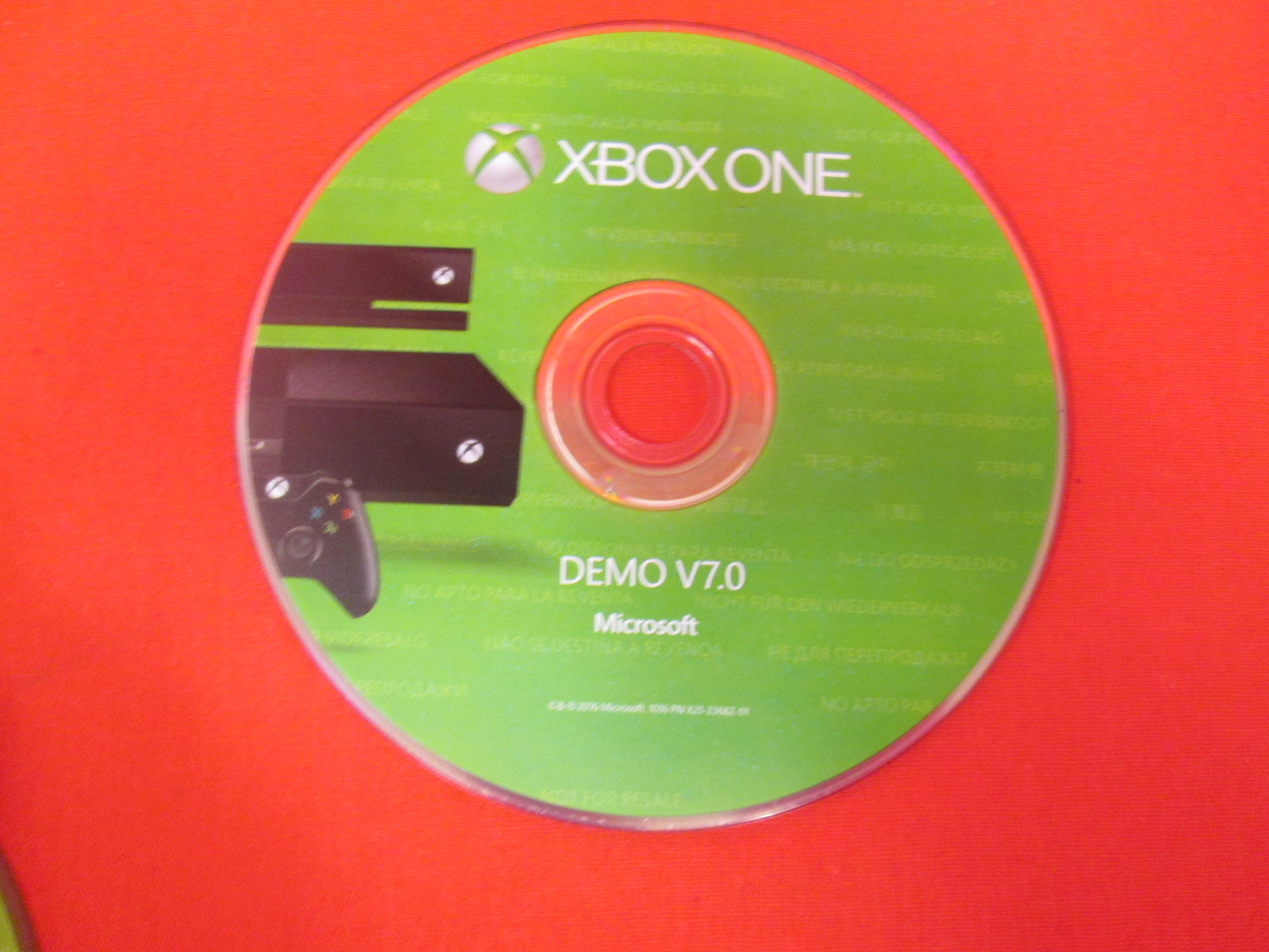 Demo V7.0 Game Disc For Xbox One