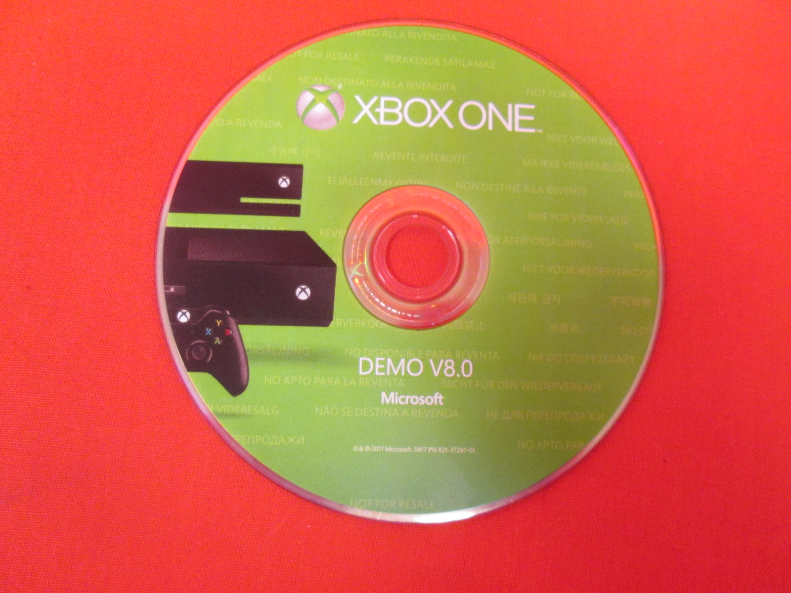Demo V8.0 Game Disc For Xbox One