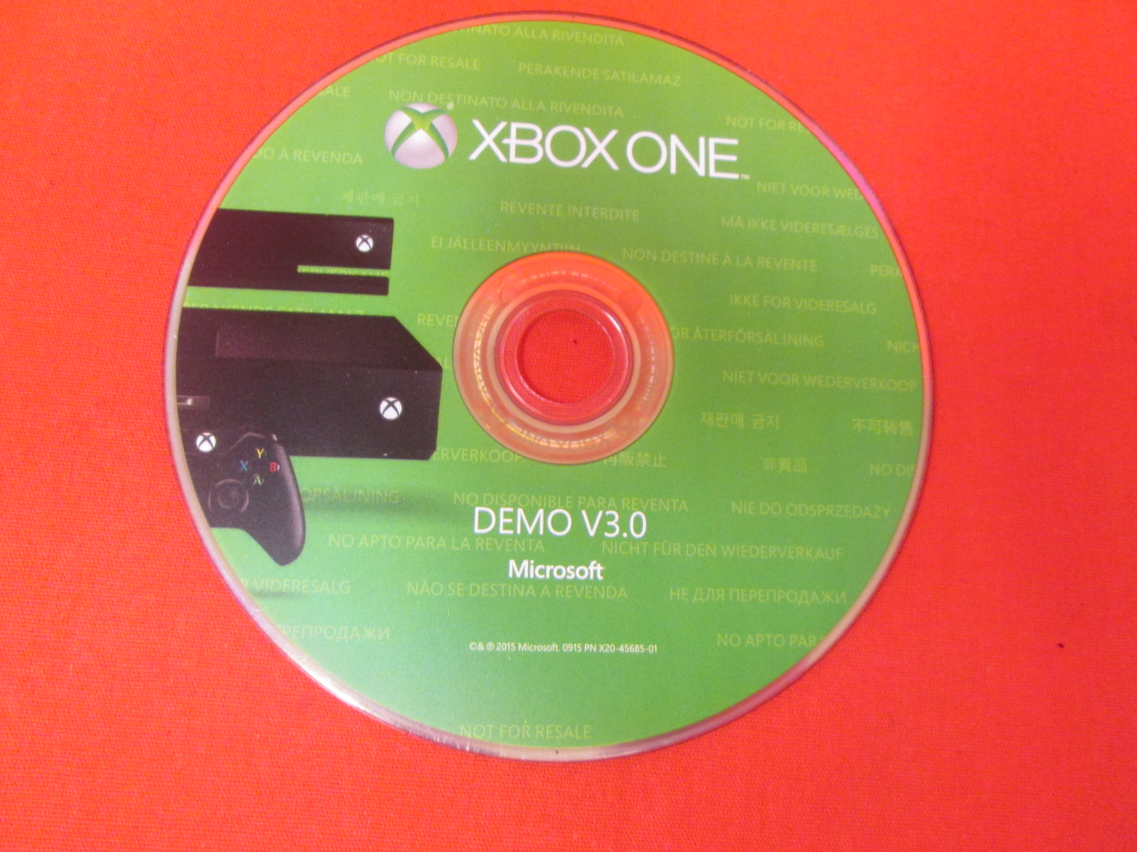 Demo V3.0 Game Disc For Xbox One