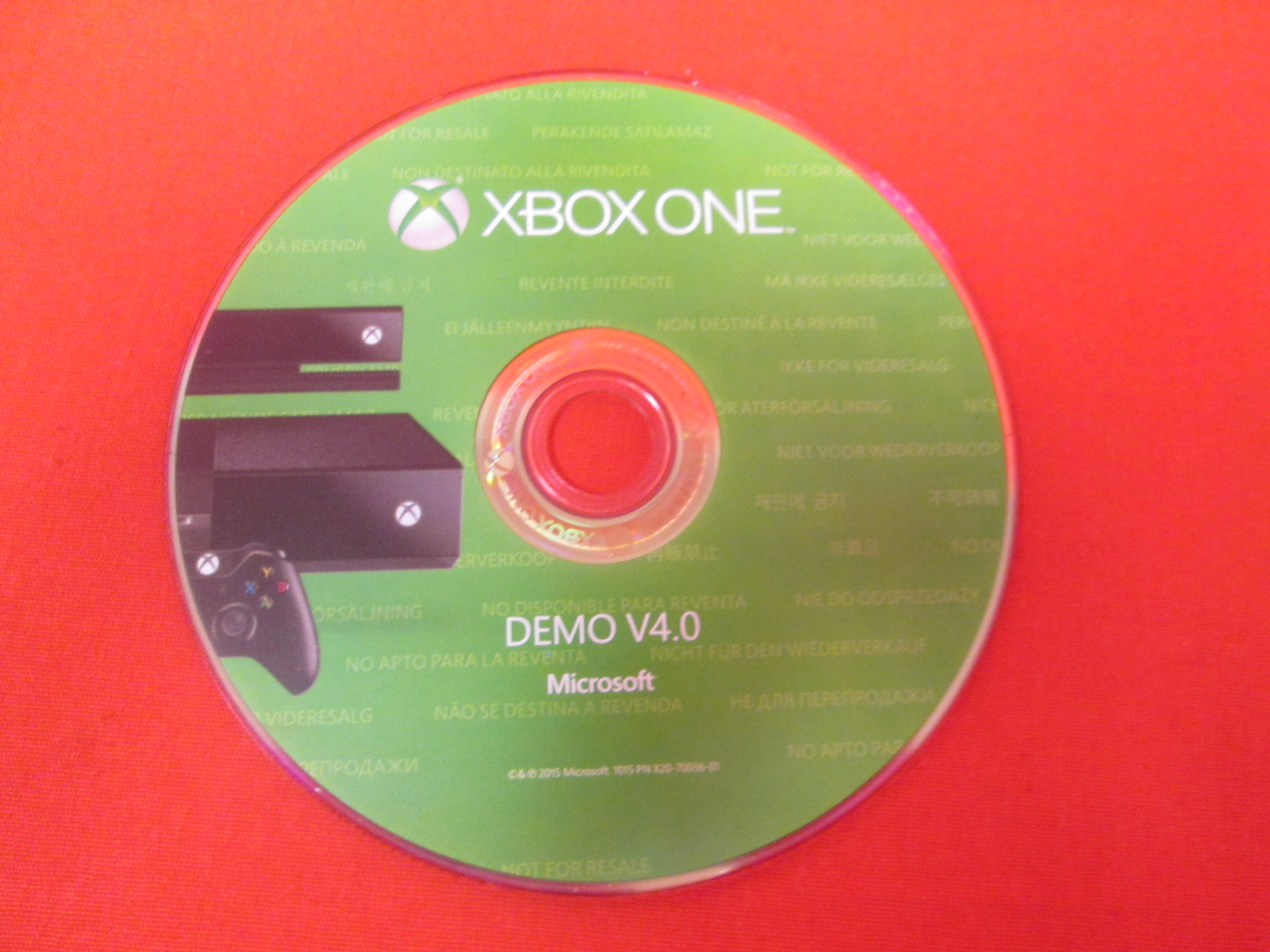 Demo V4.0 Game Disc For Xbox One