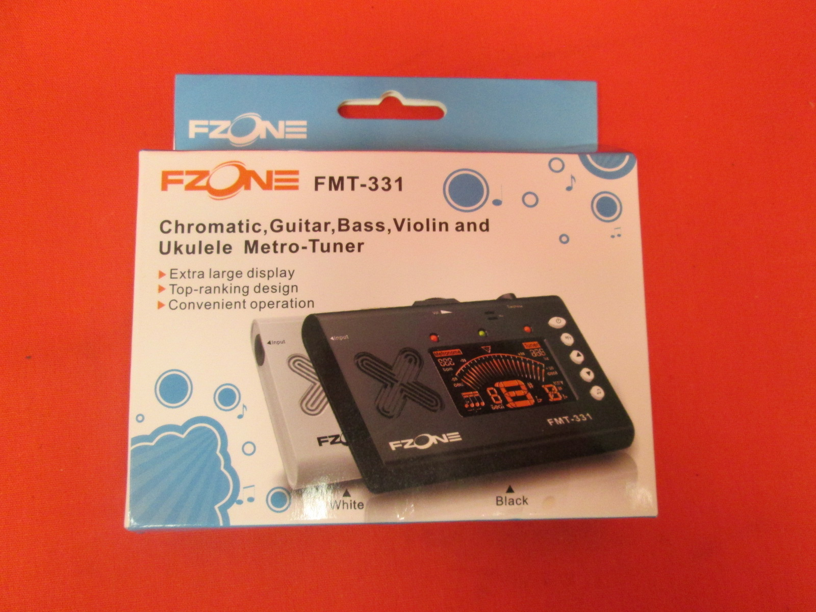Fzone FMT-331 Metro Tuner For Chromatic Guitar Bass Violin And Ukelele