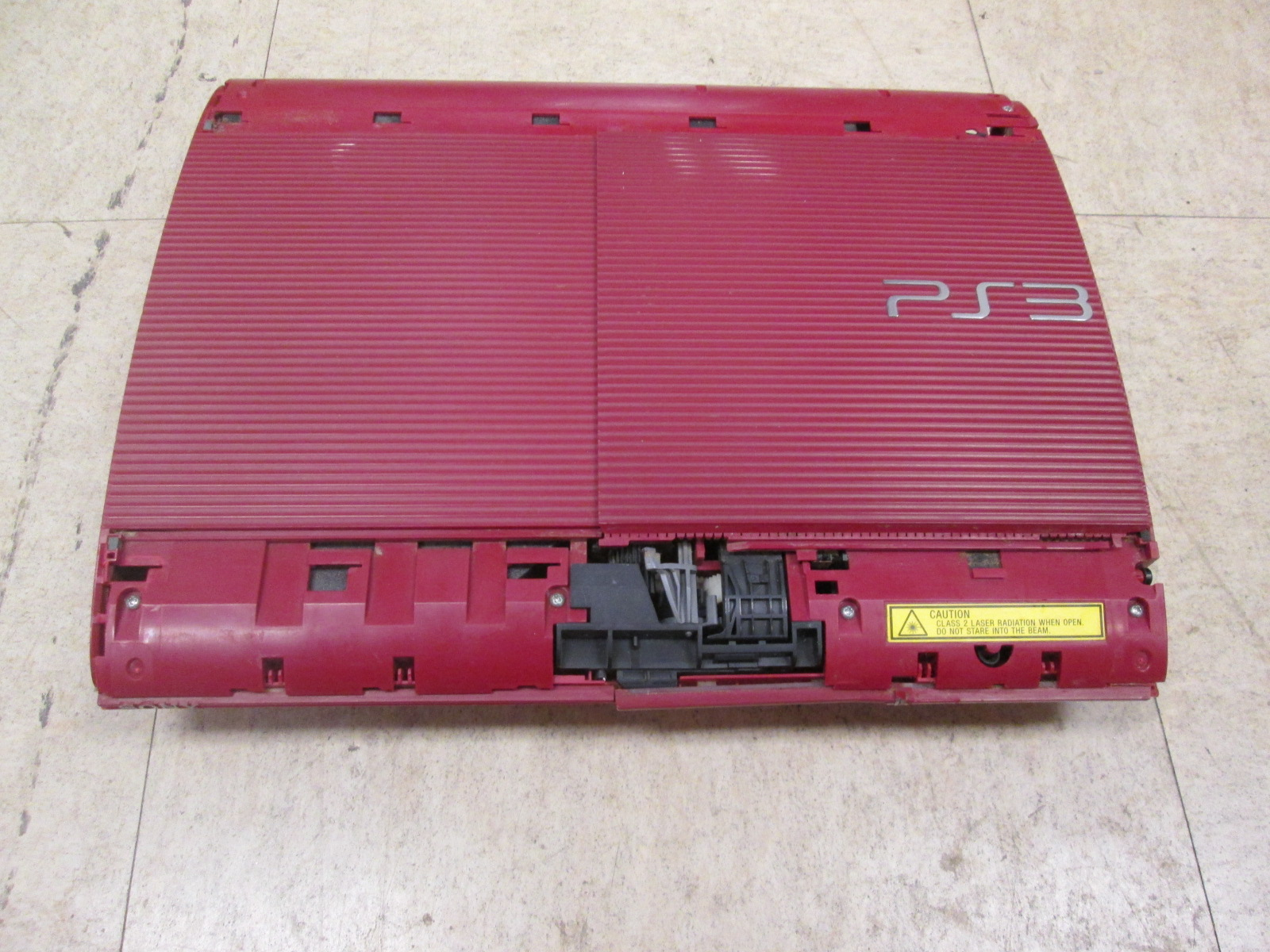 Broken Sony PlayStation 3 PS3 500GB Video Game Console Only Red