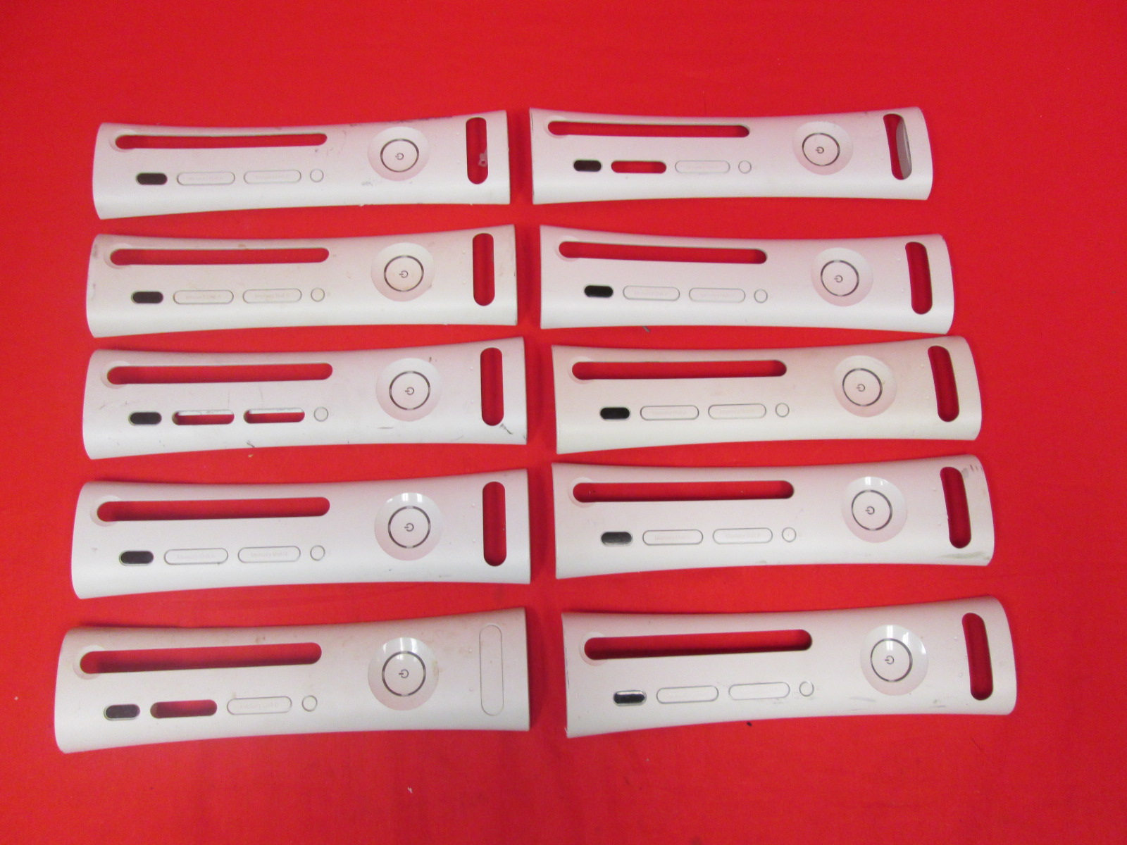 Lot Of 10 Microsoft OEM Replacement Faceplate White For Xbox 360