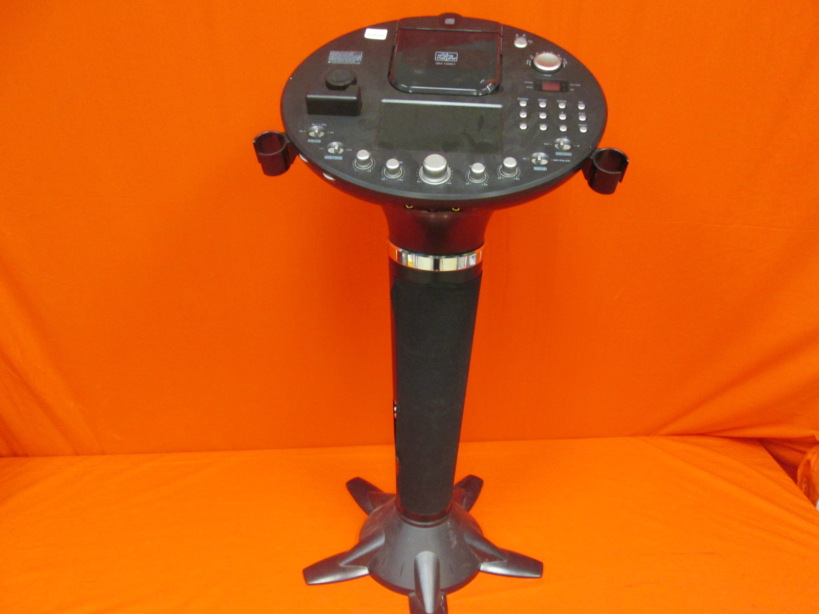The Singing Machine ISM-1028 Pedestal Cdg Karaoke System W/ 7 Monitor