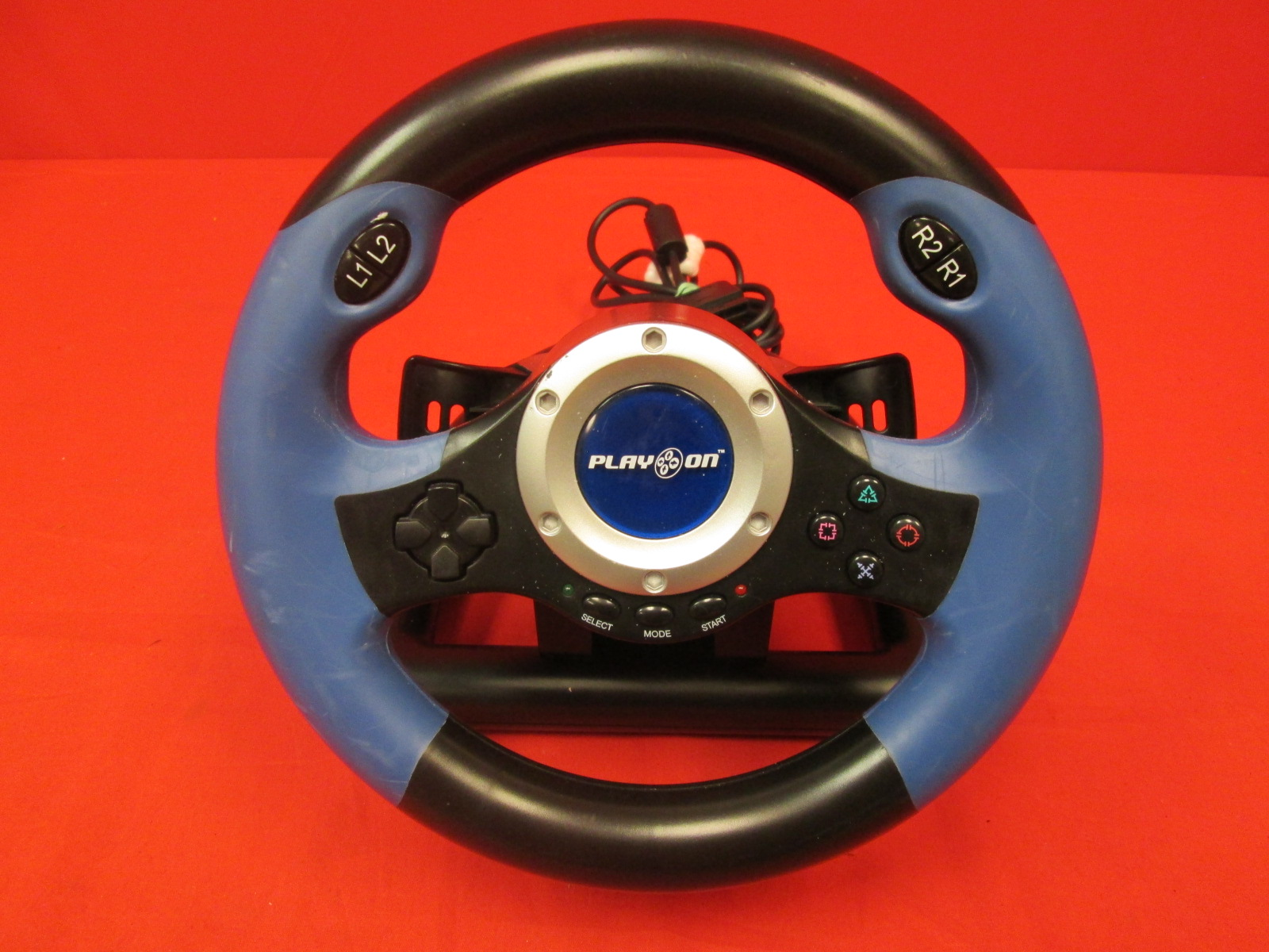 Play On V8 Plus Racing Wheel For PlayStation 2