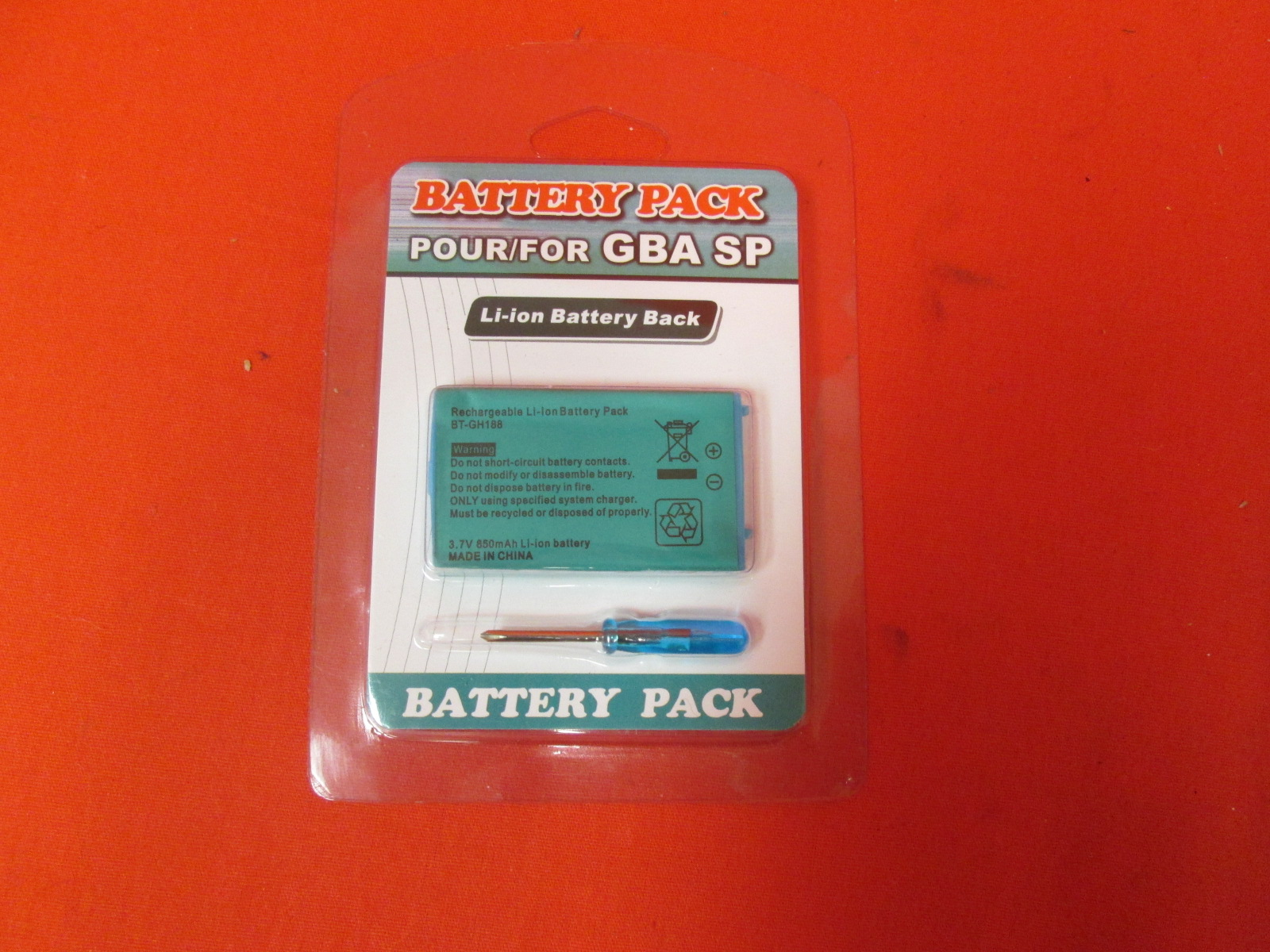 Replacement Battery For Nintendo GBA SP By Mars Devices