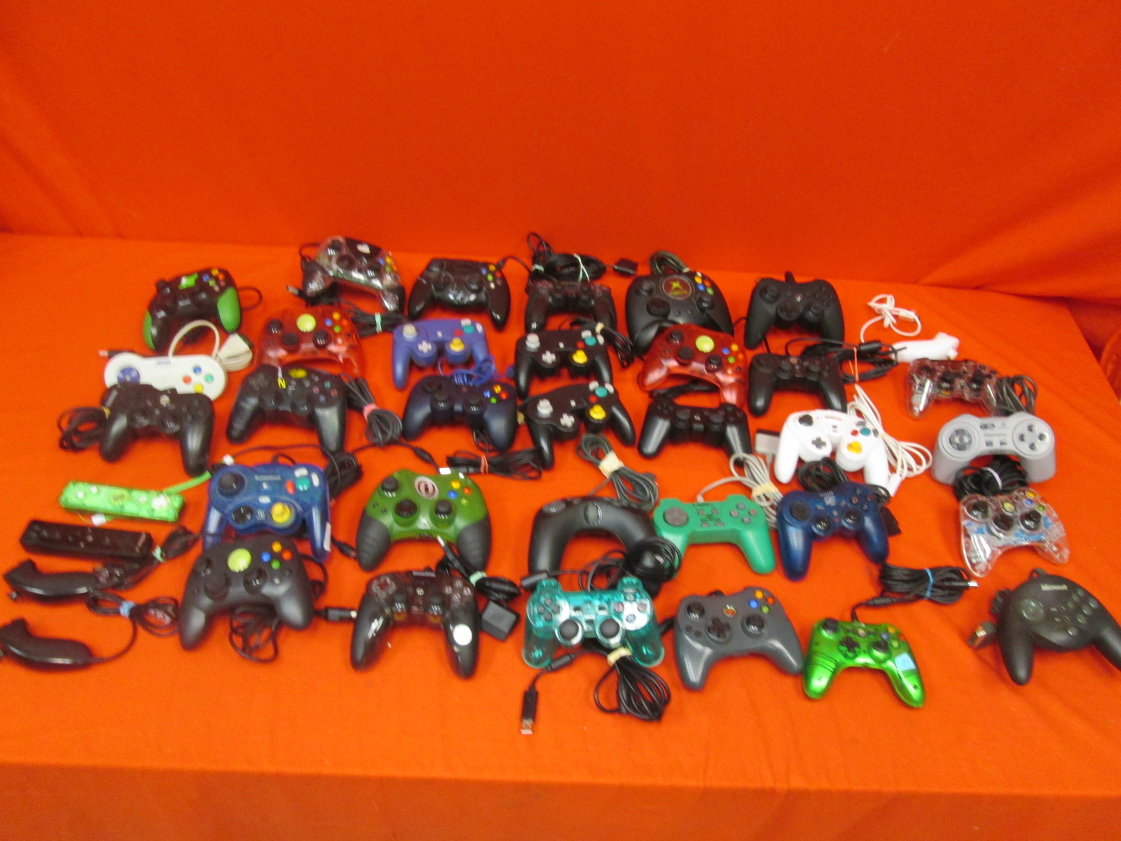Image 0 of Lot Of 37 Generic Controllers For Xbox PlayStation Wii