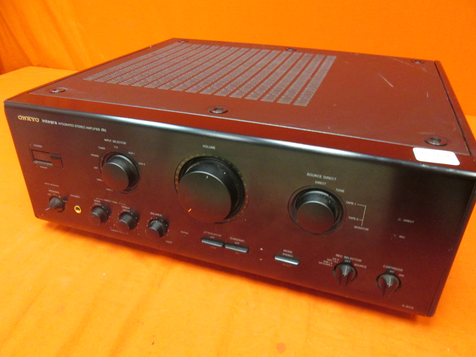Image 0 of Onkyo Integra A-809 105W 8OHM Stereo Integrated Amplifier Incomplete