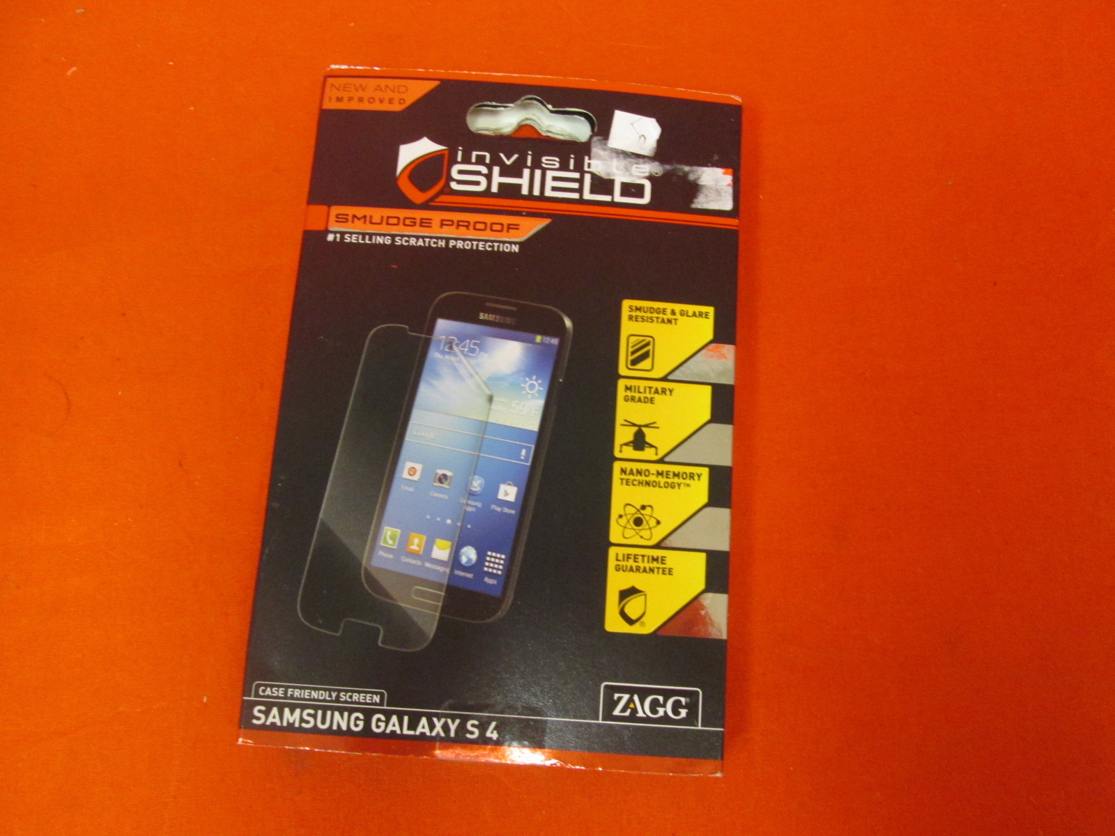 Invisibleshield Smudge-Proof Screen Guard For Samsung Galaxy S4 Clear