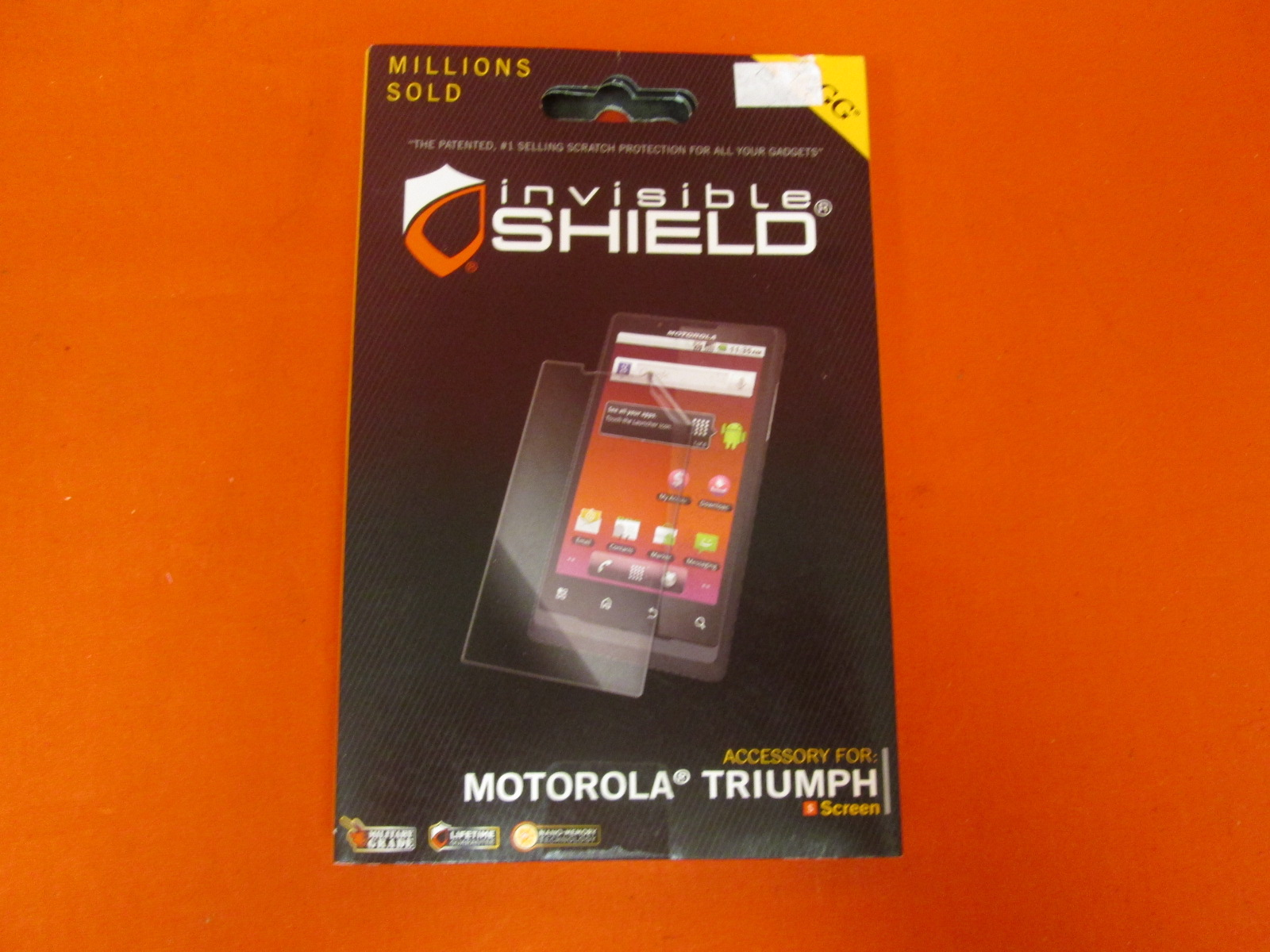 Invisibleshield For Motorola Triumph Screen