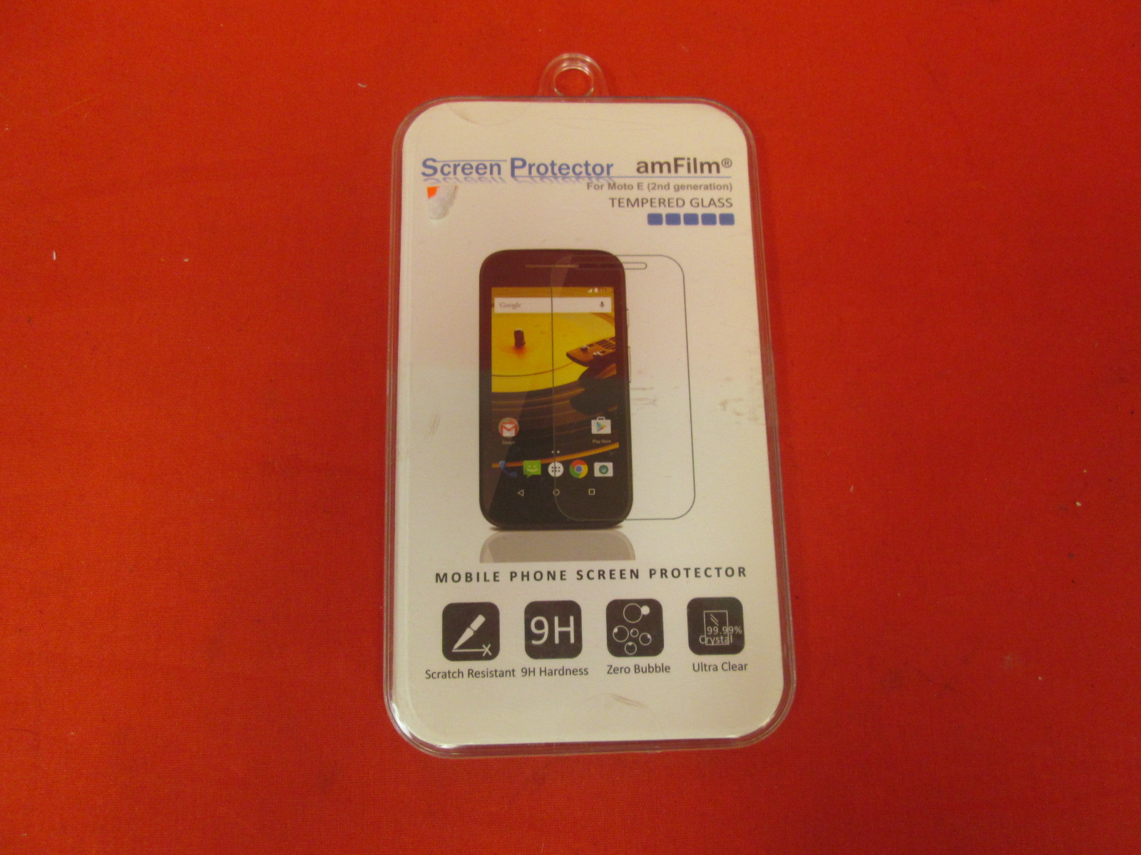 Amfilm Moto E 2nd Gen Tempered Glass Screen Protector For Motorola