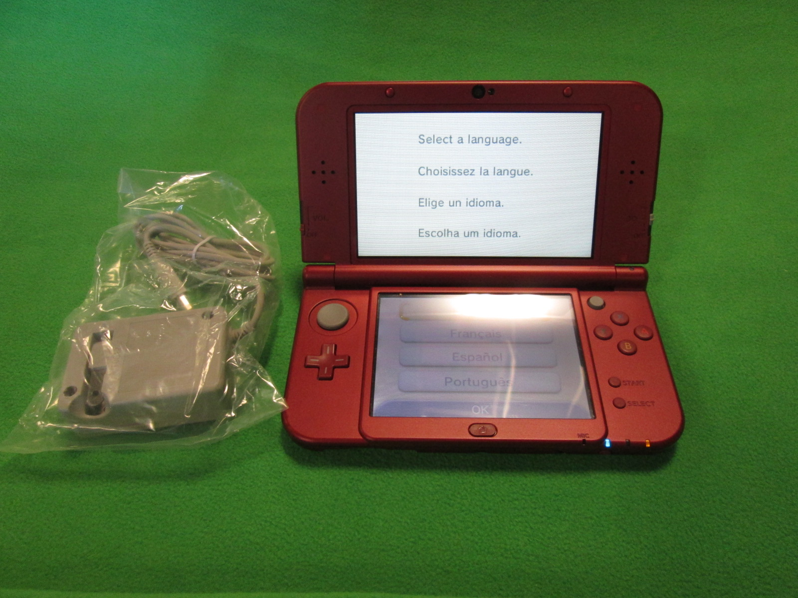 Nintendo New 3DS XL Red Handheld Console
