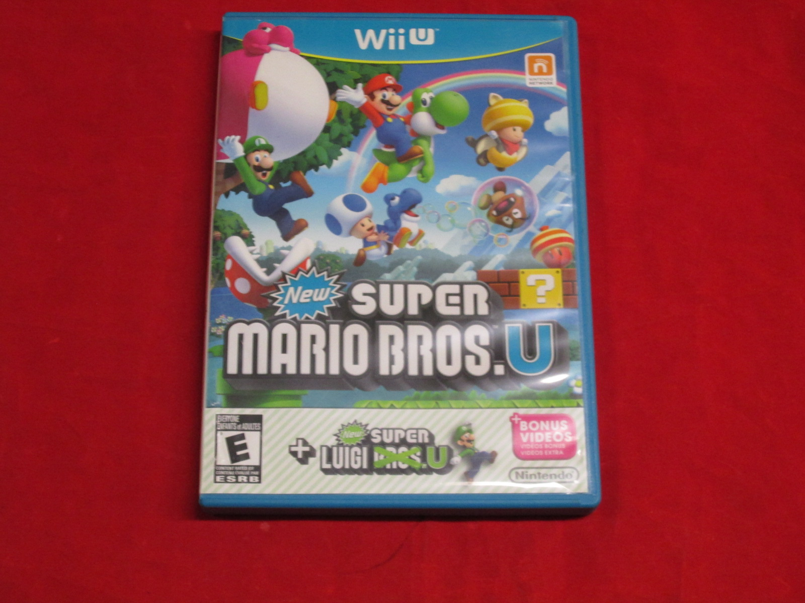 New Super Mario Bros U New Super Luigi U Wii U With Manual and Case