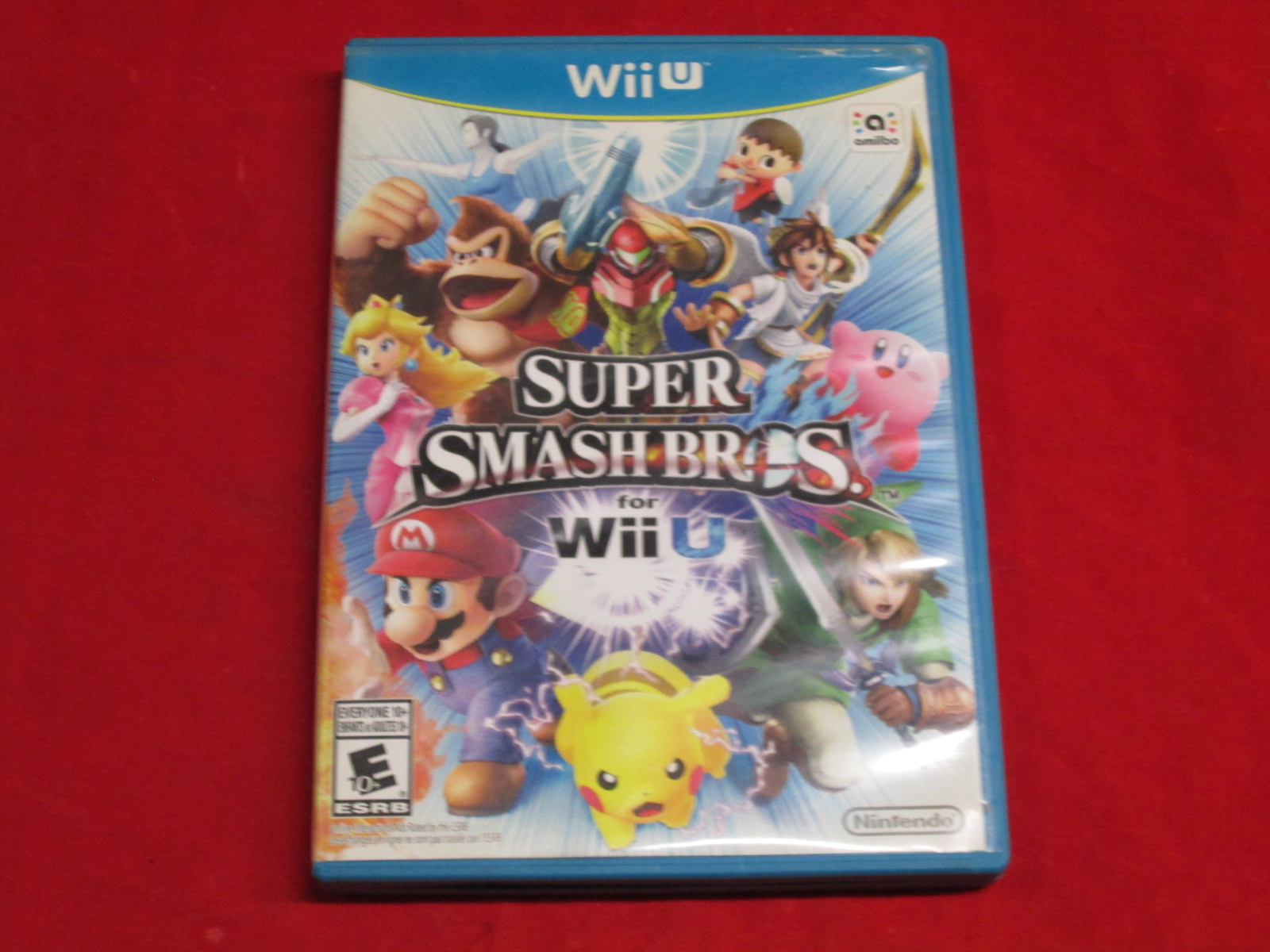 Super Smash Bros Nintendo Wii U With Manual And Case