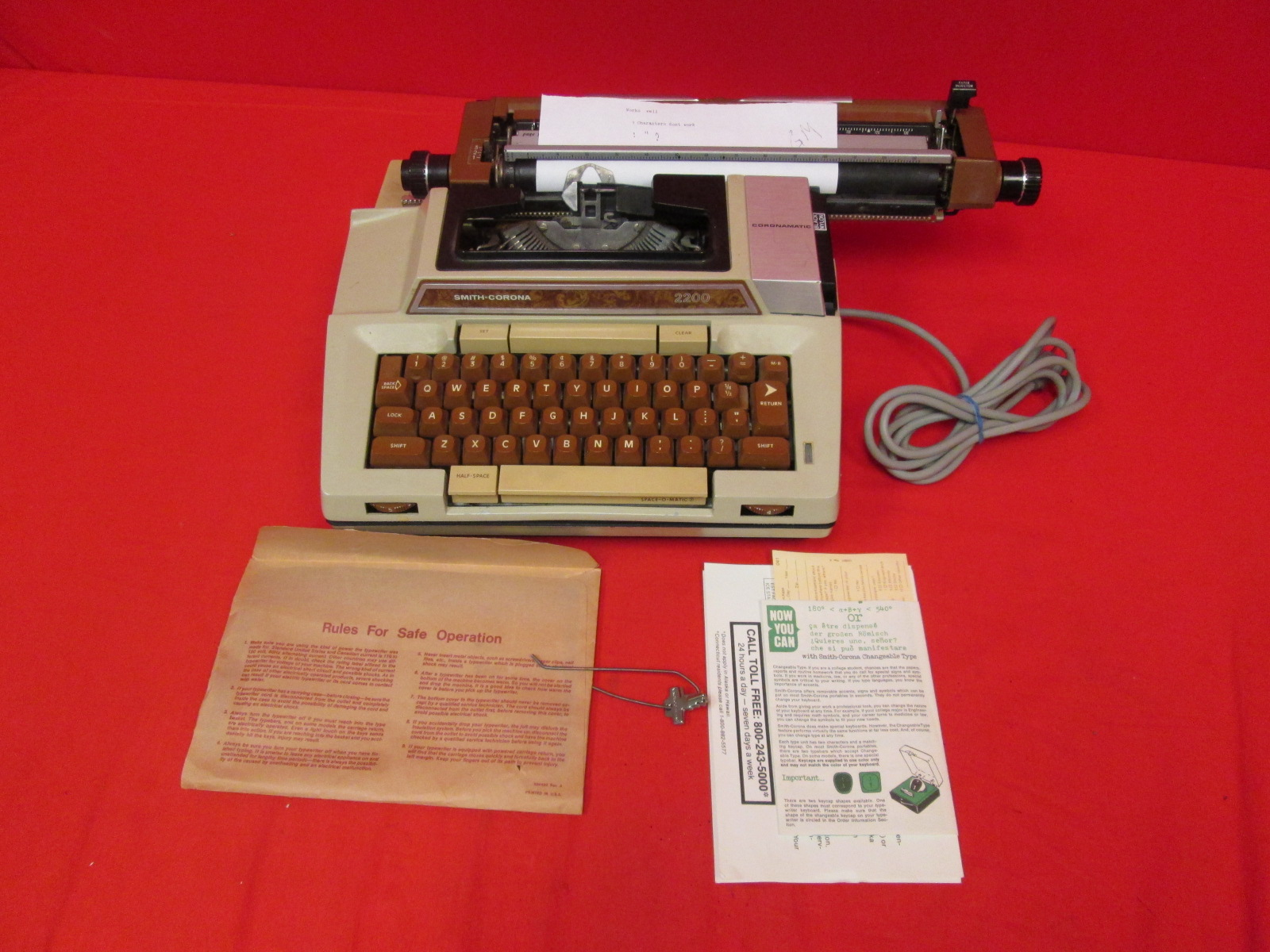 Smith Corona Scm Coronamatic 2200 Typewriter