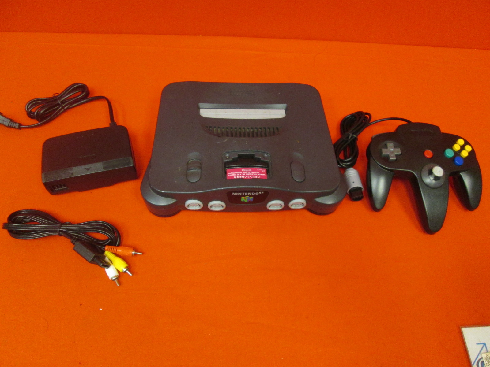 N64 Video Game Console And Controller
