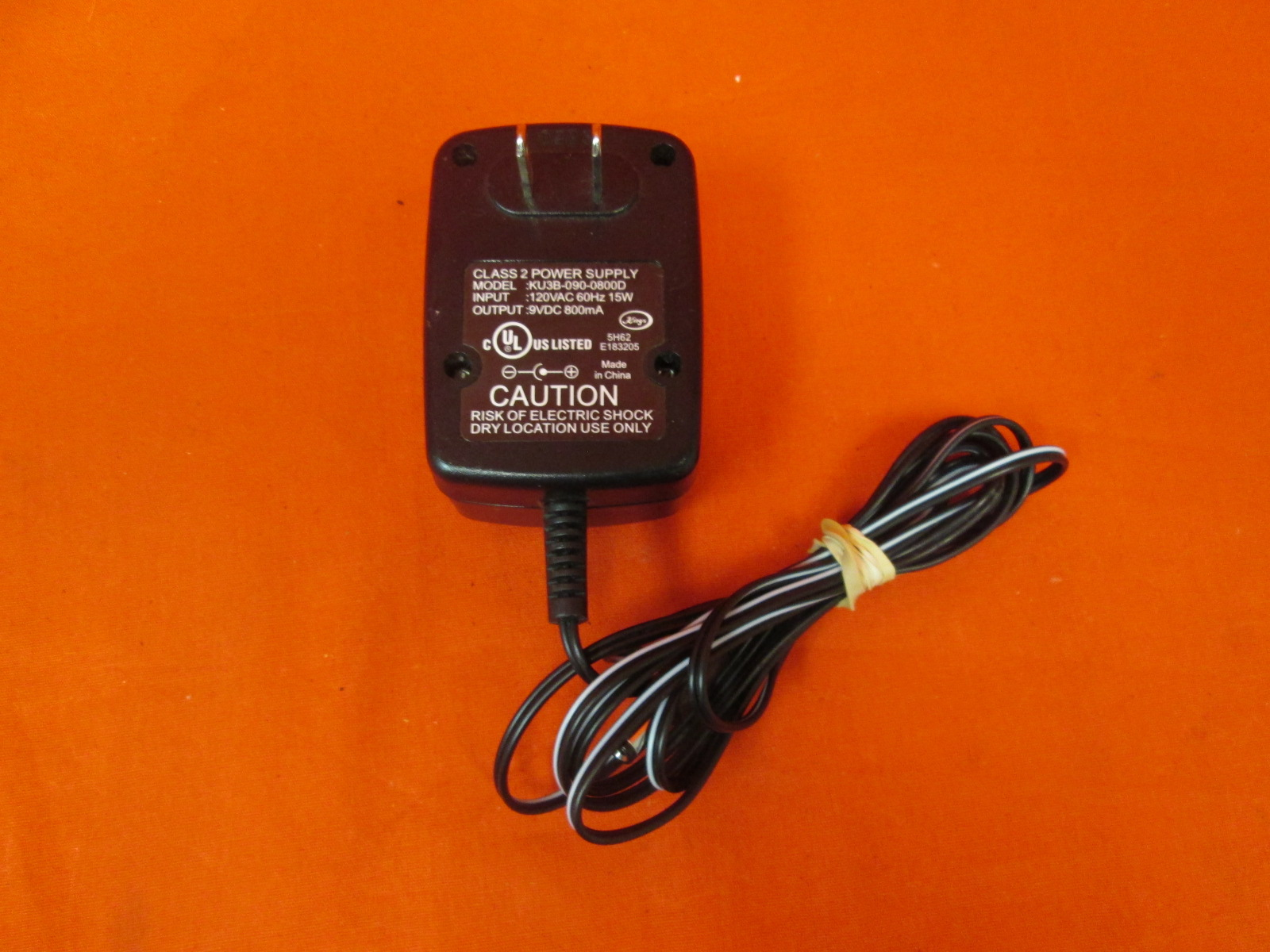 AC Adapter For Power Supply Model: KU3B-090-0800D Class 2 Power Supply