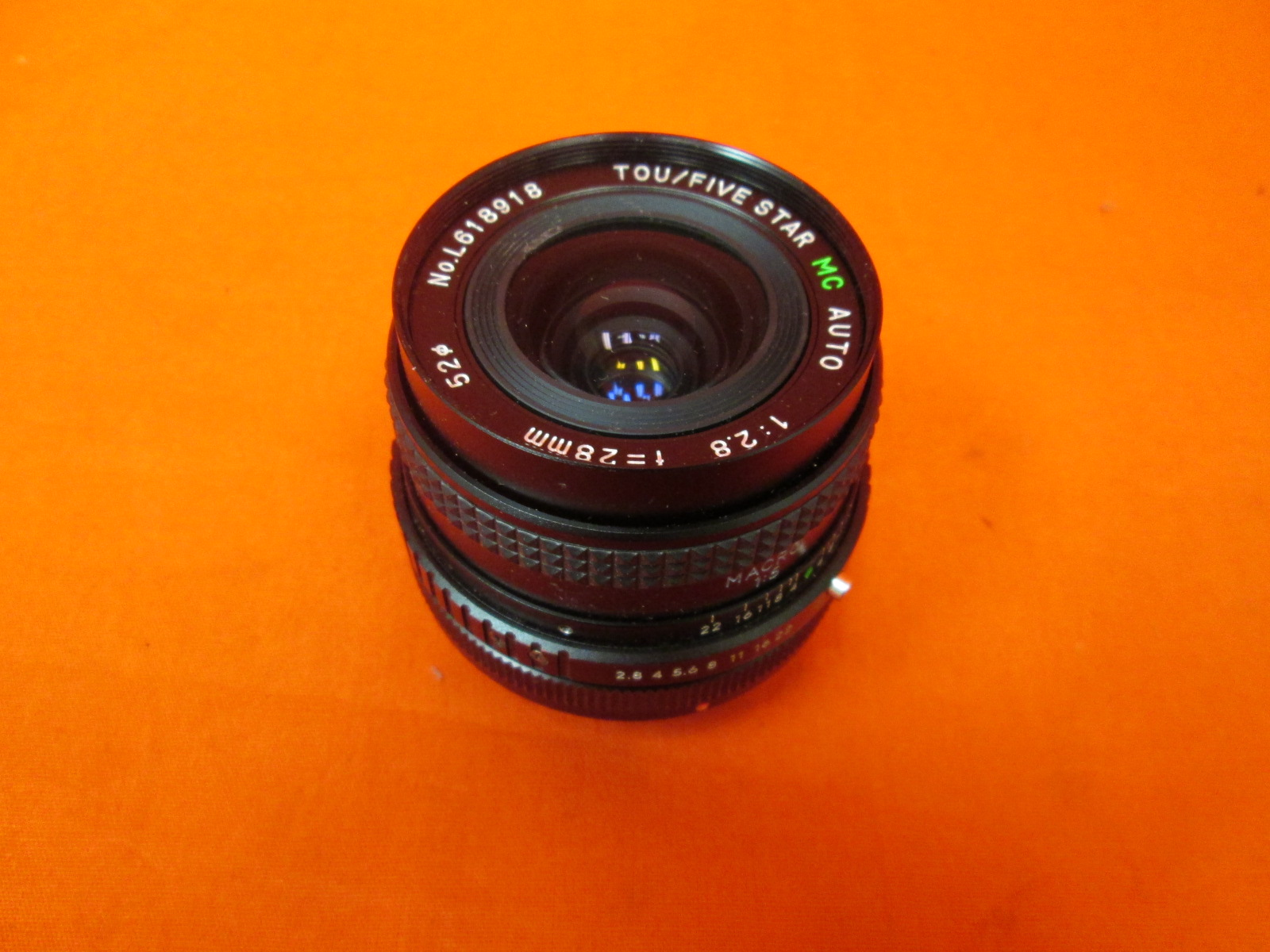 Tou Five Star Mc Auto 28-75MM Zoom Lens 1:3.5-4.5 Macro SS1030039