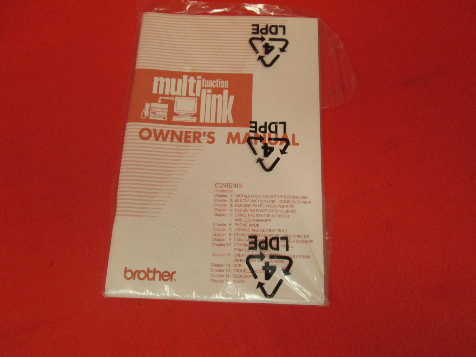 Replacement Owner's For Brother Multi Function Multi Link UF6571-001