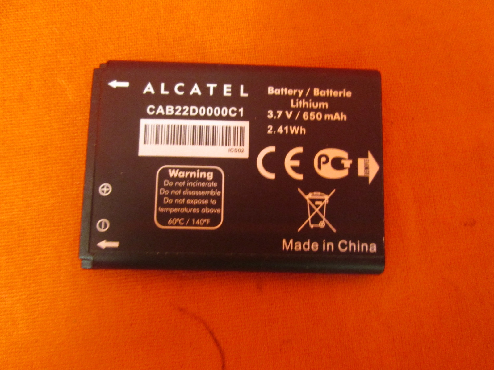 Alcatel OT-665 Battery CAB22D0000C1