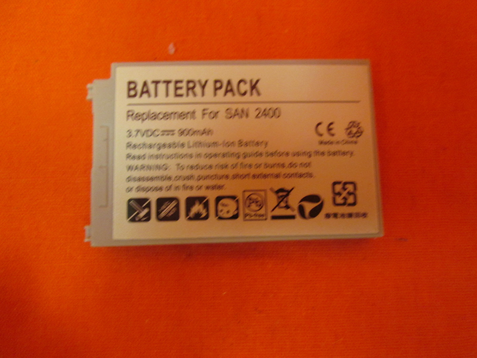 Battery Pack For San 2400 Rechargeable Li-Ion