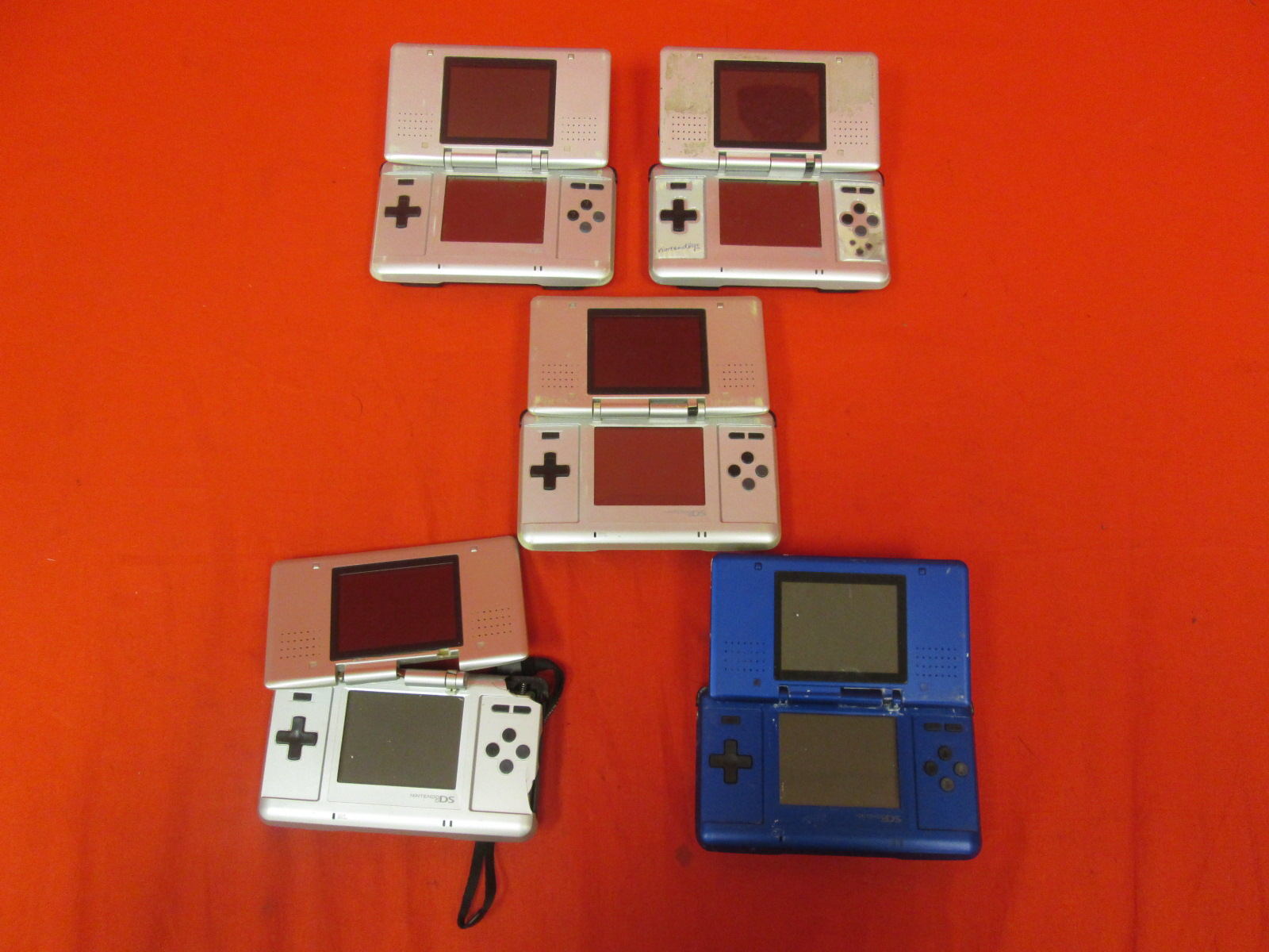 Broken Lot Of 5 Nintendo DS Handheld Consoles