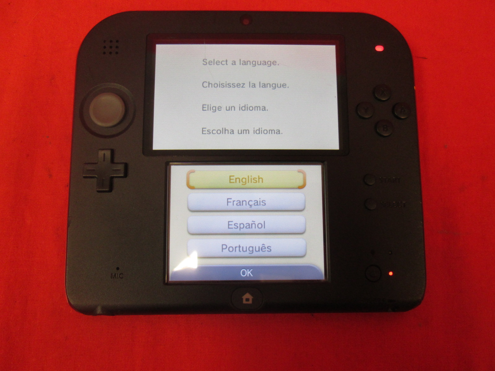 Nintendo 2DS Crimson Red Portable System