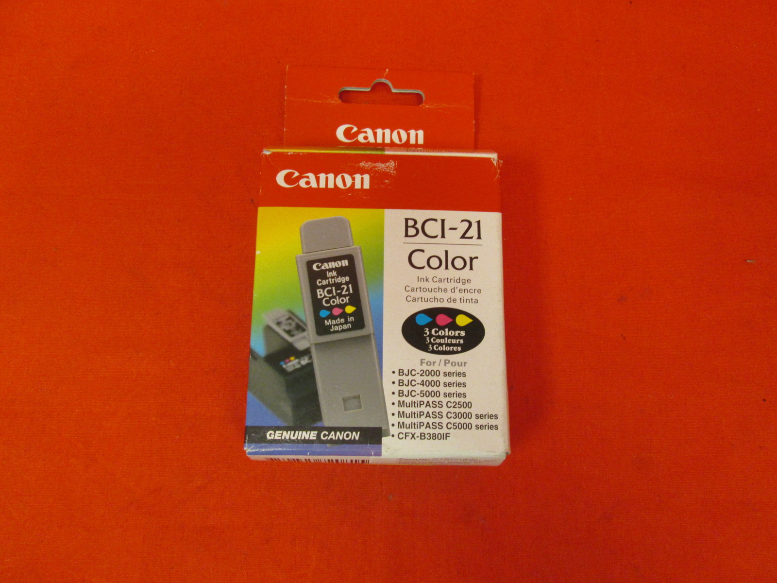 Canon BCI-21C Color Ink For BJC-2000 4000 5000 Multipass C2500 C3000 C