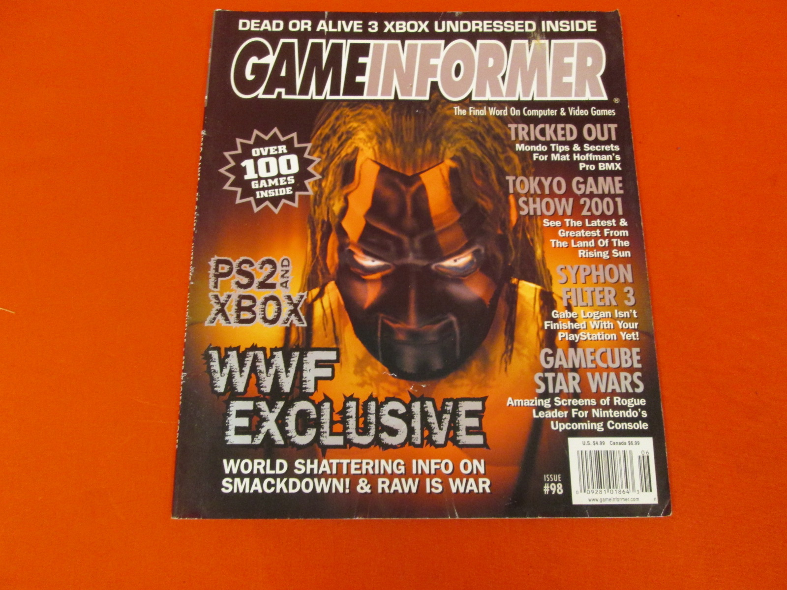 Game Informer Issue 98 Dead Or Alive 3 Xbox Undressed Inside WWF