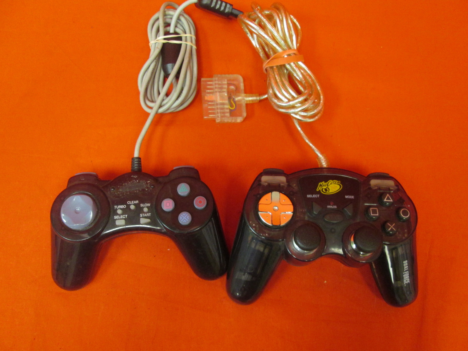 Lot Of 2 Wired Controllers For PlayStation 2