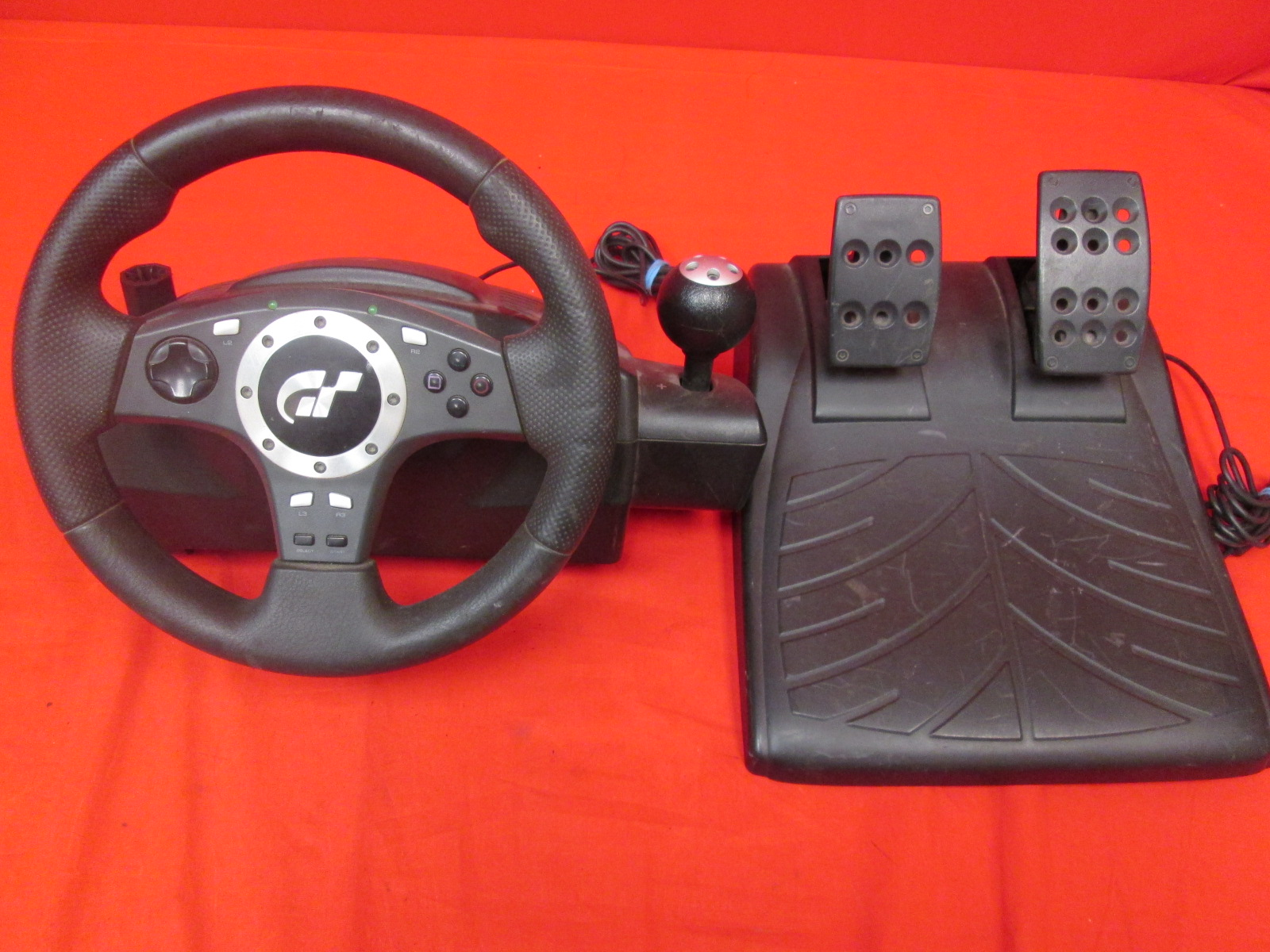 Broken Logitech E-UJJ11 Driving Force Wheel And Pedals Set