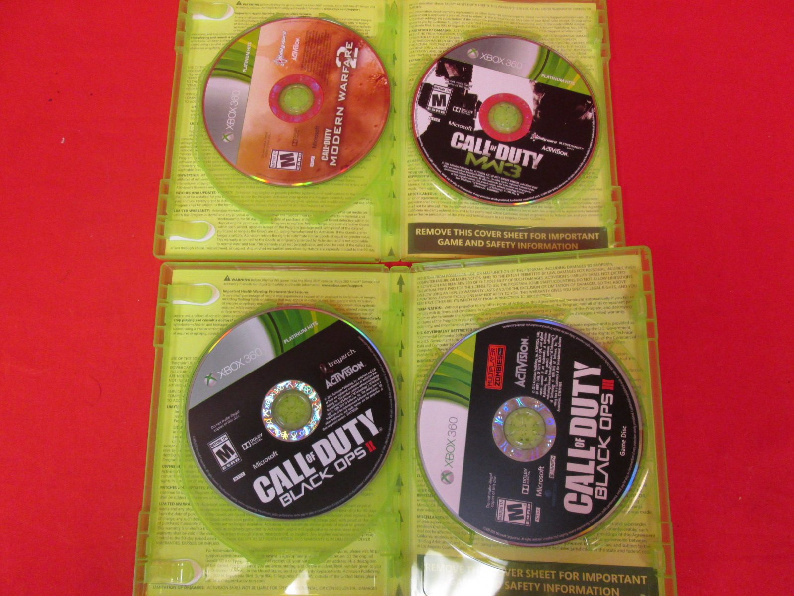 Call Of Duty Collection For Xbox 360 Black Ops 2 3 Mw 2 3