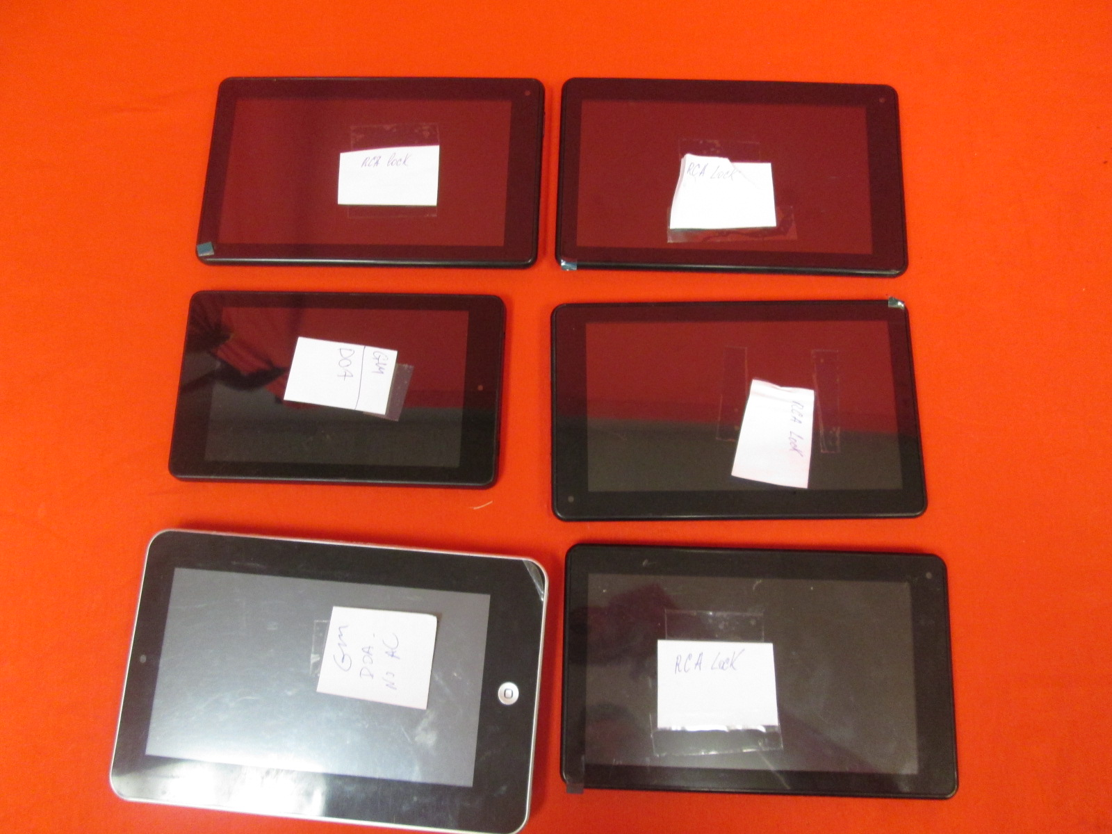 Broken Lot Of 6 Tablets Kindle RCA Panimage Tablet