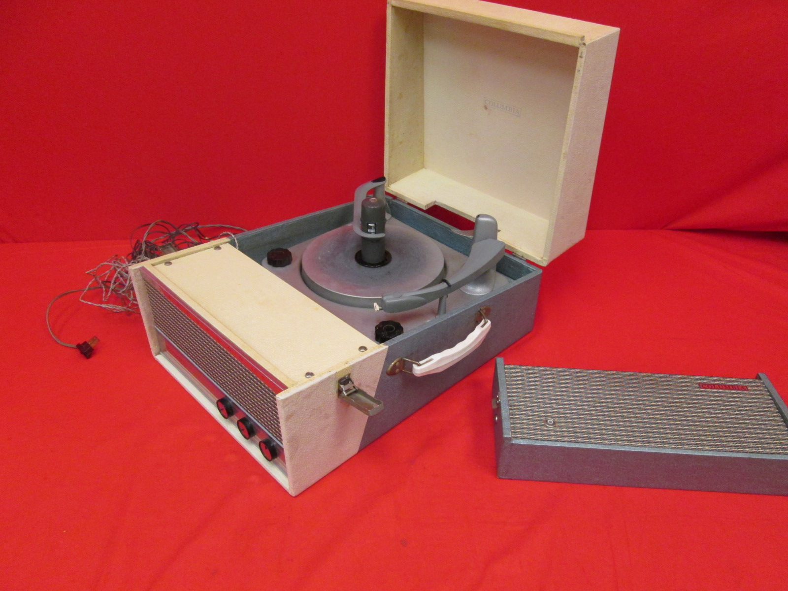 Broken Stereophonic Columbia High Fidelity Vintage Turntable