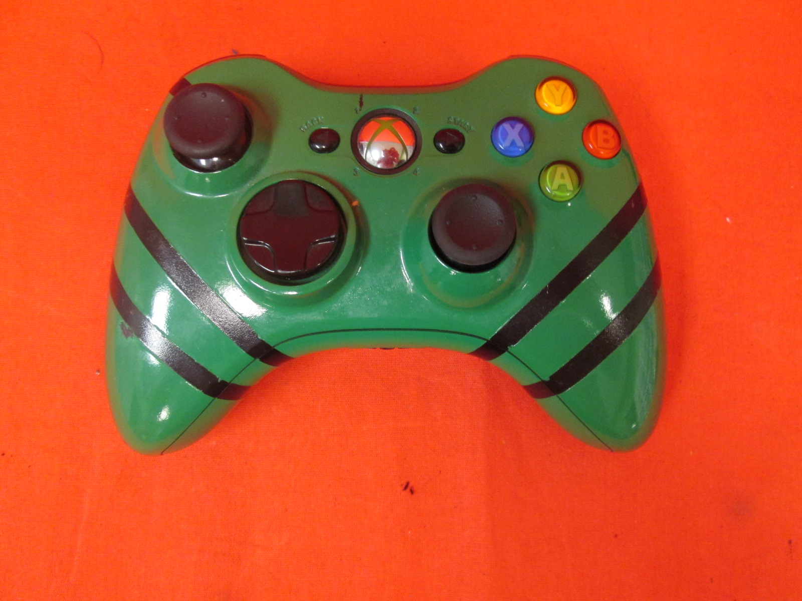 Microsoft Xbox 360 Wireless Controller Green And Black