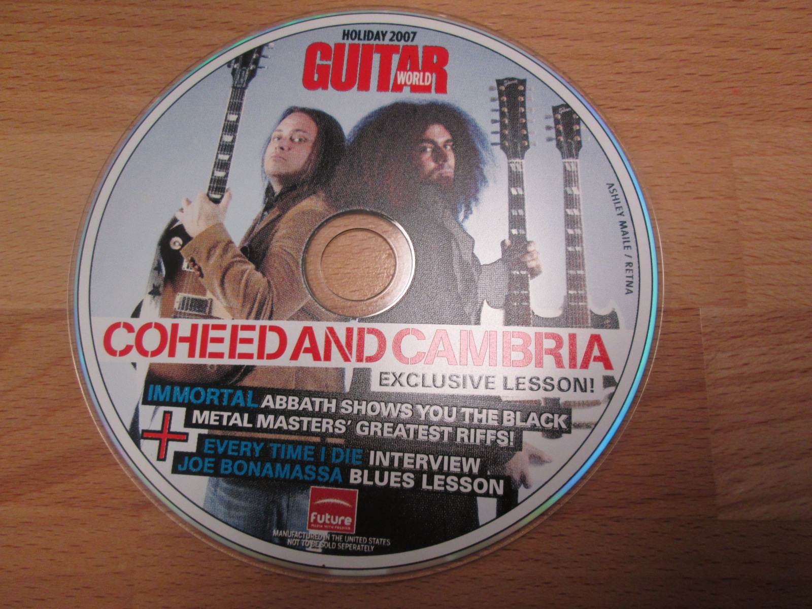 Guitar World CD-Rom Holiday 2007 Featuring Coheed And Cambria Immortal