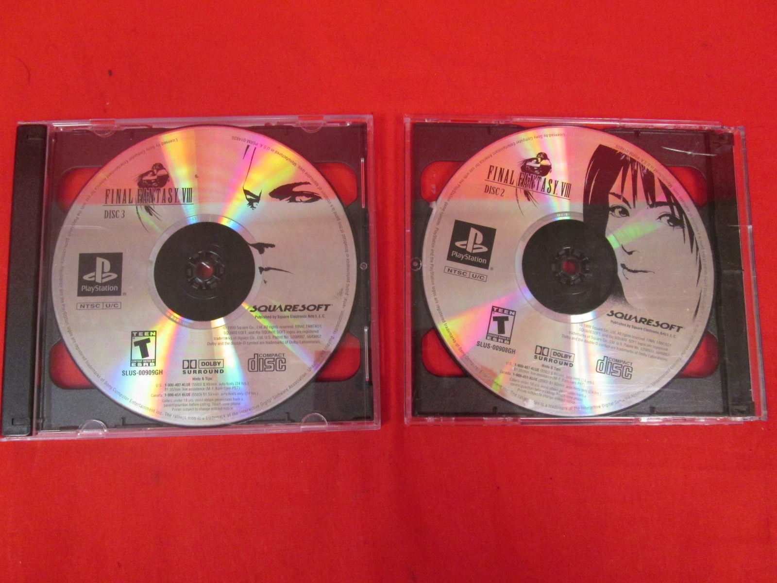 Replacement Discs 2 And 3 Final Fantasy VIII For PlayStation 1