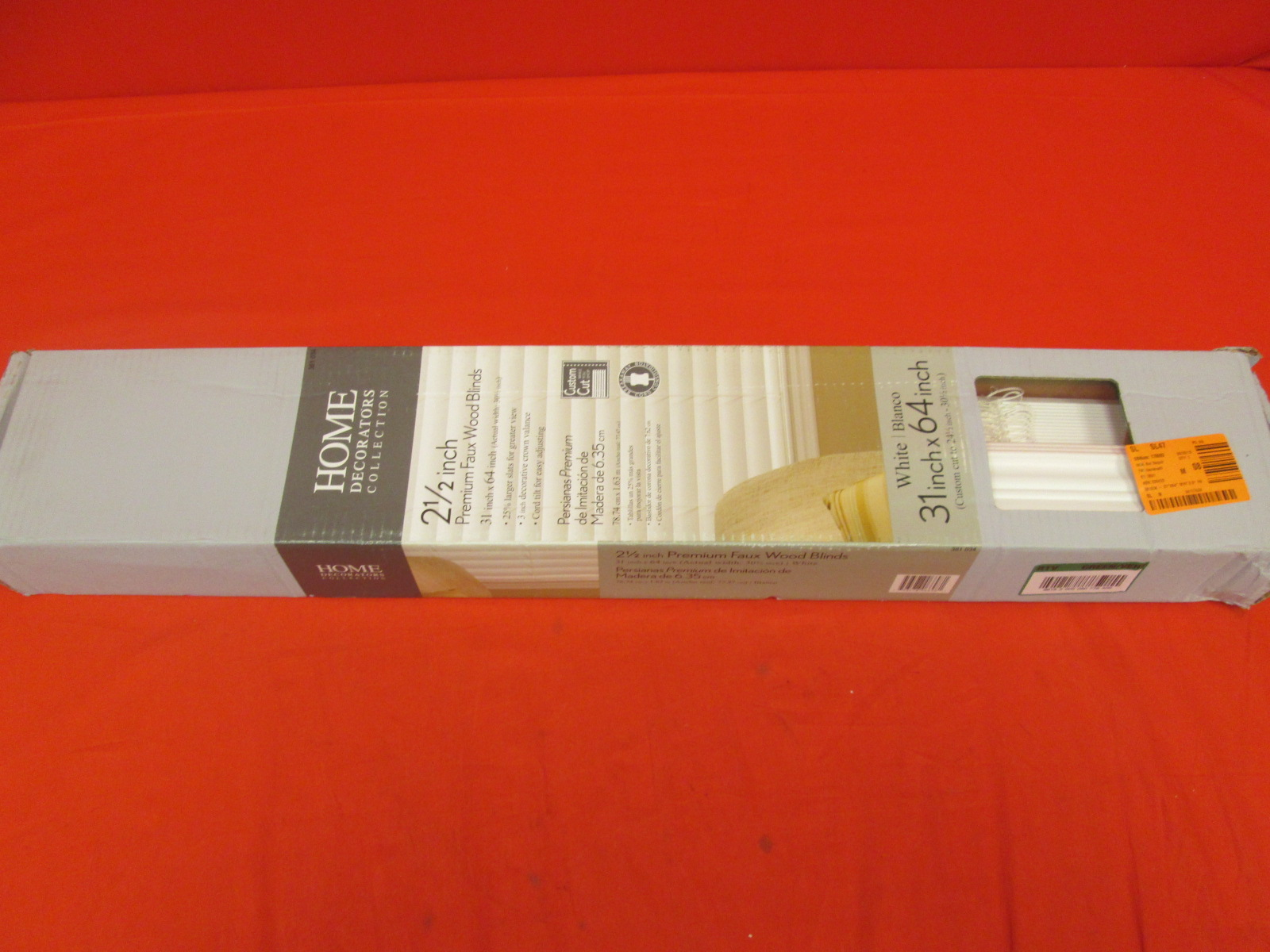 Home Decorators Collection White 2 1/2 Inch Premium Faux Wood Blinds 3