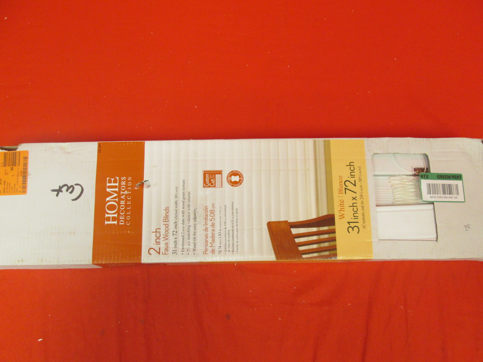 Home Decorators Collection White 2 Inch Faux Wood Blinds 31 Inch X 72