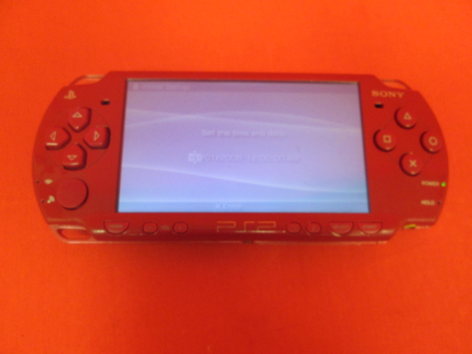 Sony PSP 2000 PlayStation Portable Limited Edition God Of War Red