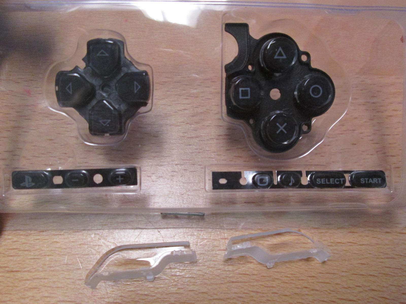 Black Buttons Key Pad Set For Sony PSP 3000 Slim Console Replacement