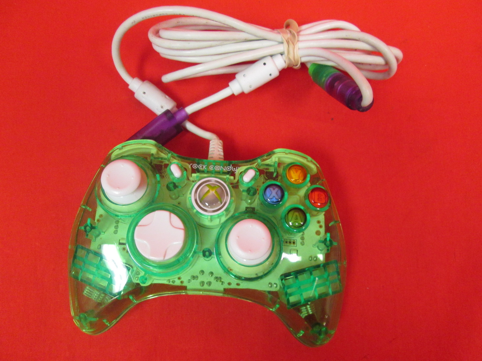 PDP Rock Candy Wired Controller For Xbox 360 Aqualime
