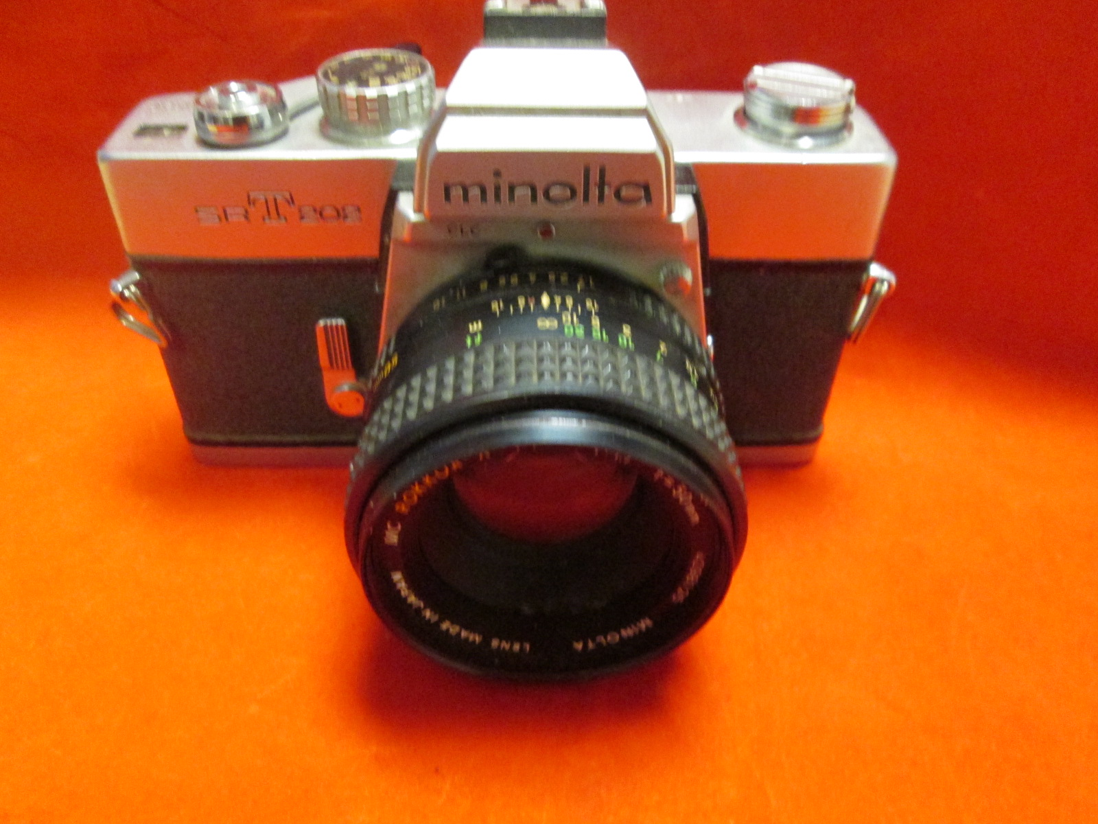 Minolta SRT-202 SLR Camera-Rokkor X 1:14 F=50MM Lens Camera