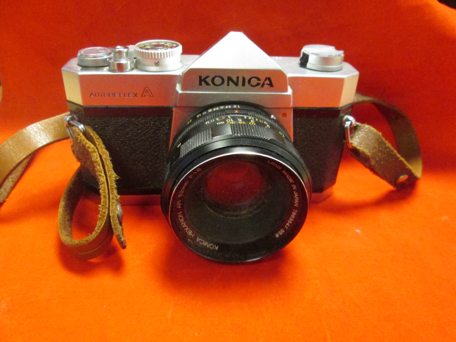 Konica Autoreflex A Film Camera With Konica Hexanon Ar 52 MM Lens