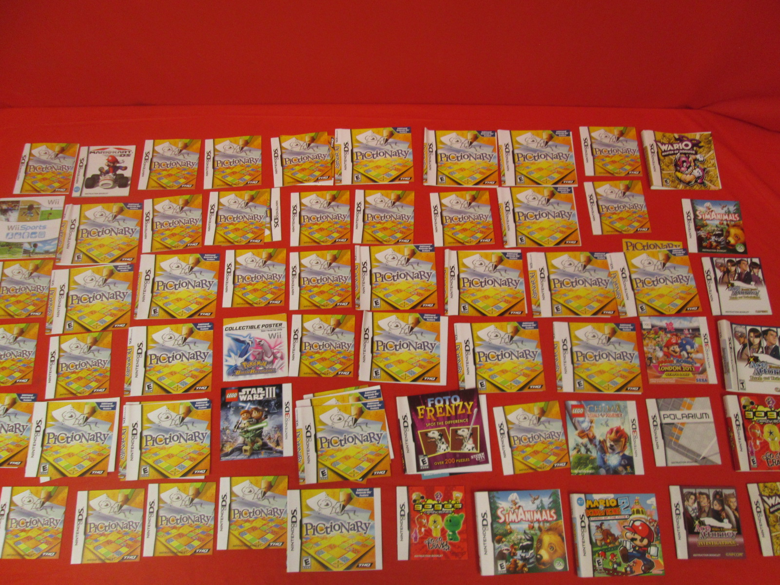 Lot Of 60 Nintendo And Cover Art For DS