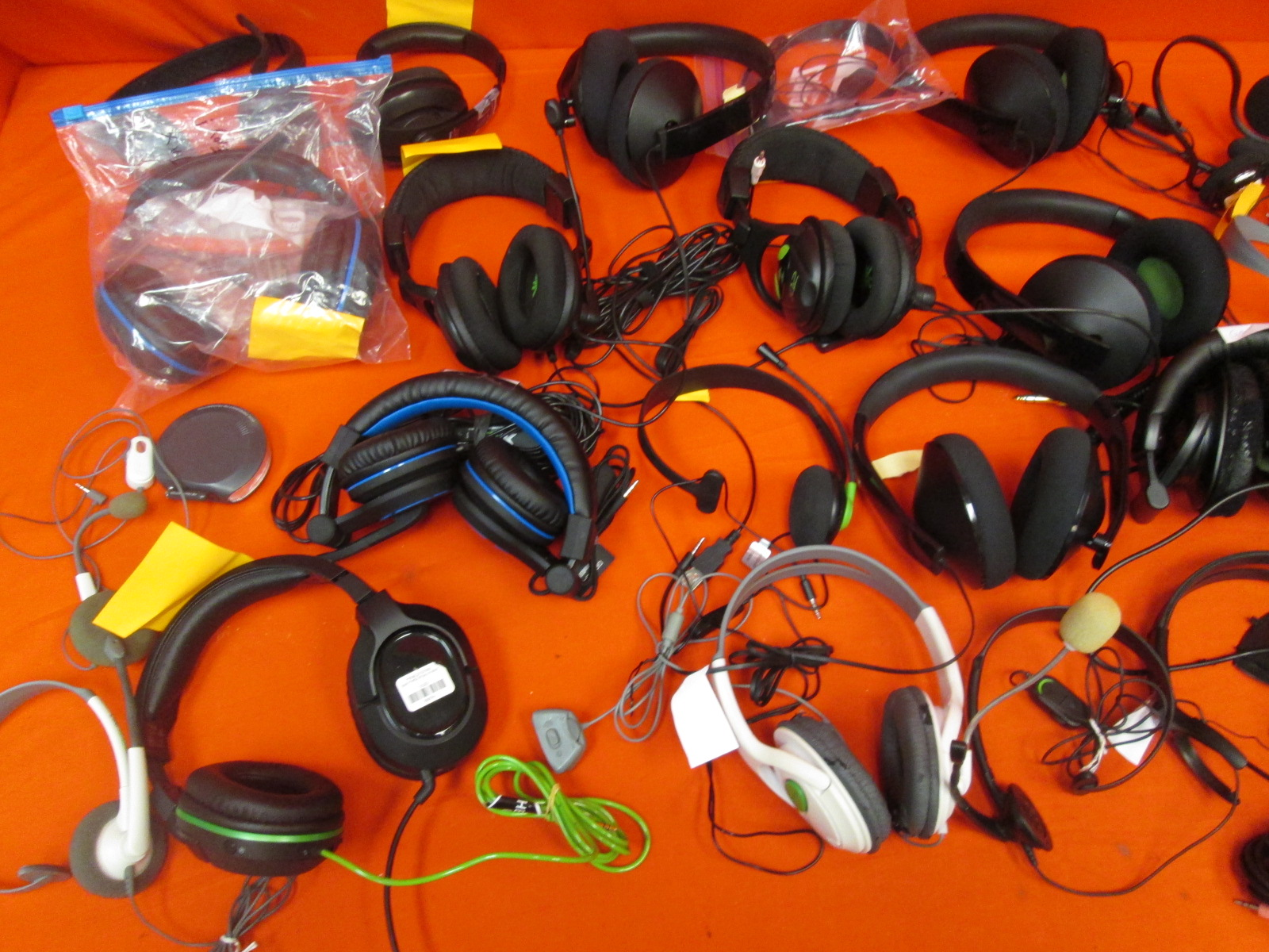 Image 1 of Broken Lot Of 50 Video Game Headsets Turtle Beach Microsoft Sony For