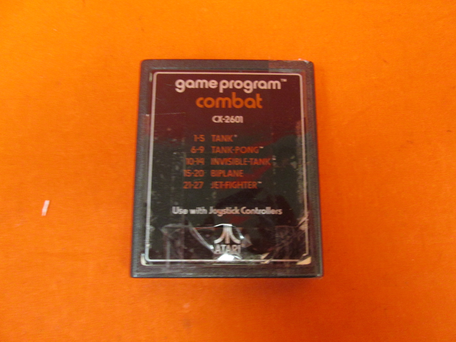 Atari Game Program Combat CX2601 Tank Tank Pong Invisible Tank Biplane